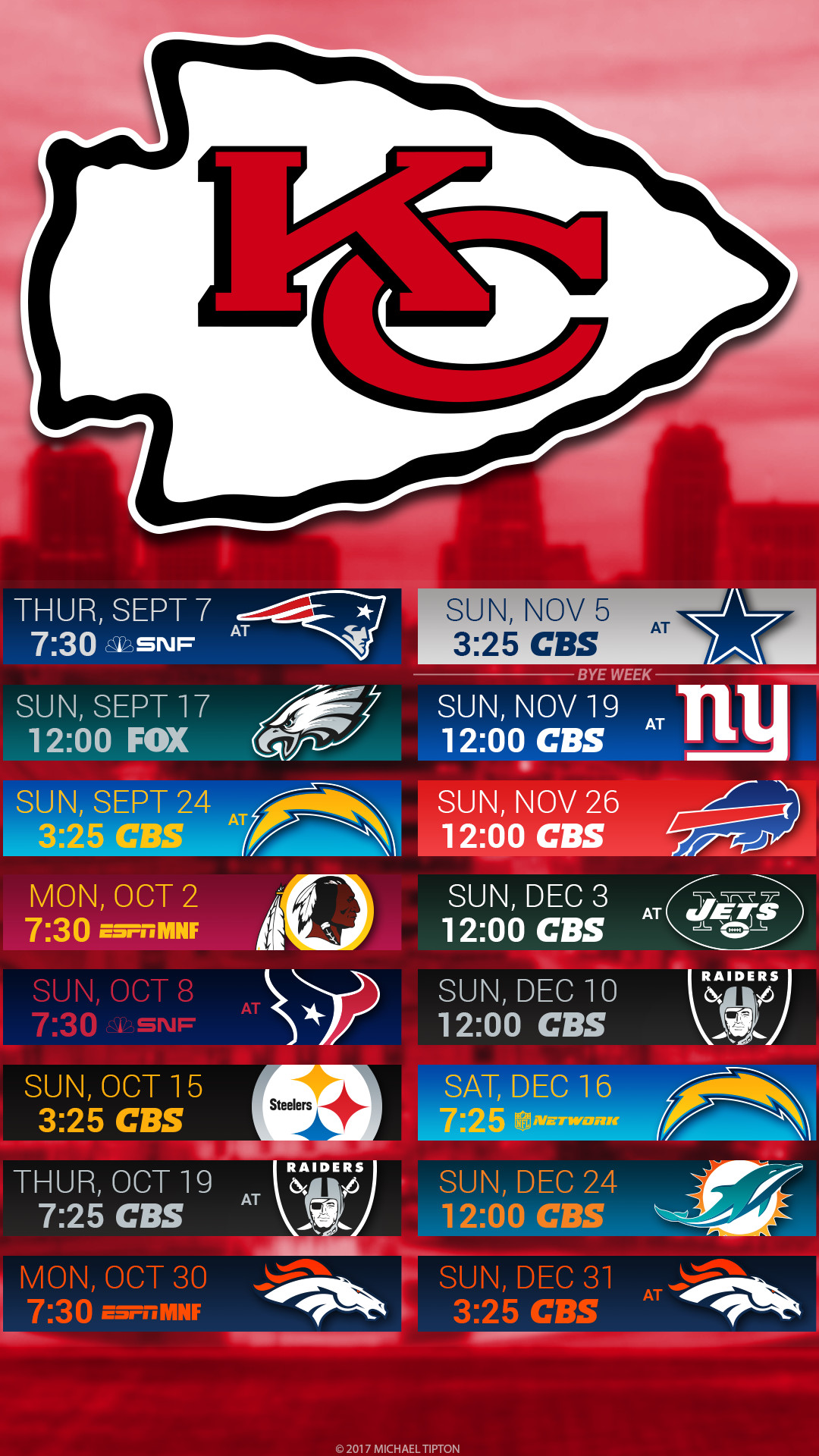 It's just a graphic of Punchy Kansas City Chiefs Printable Schedule