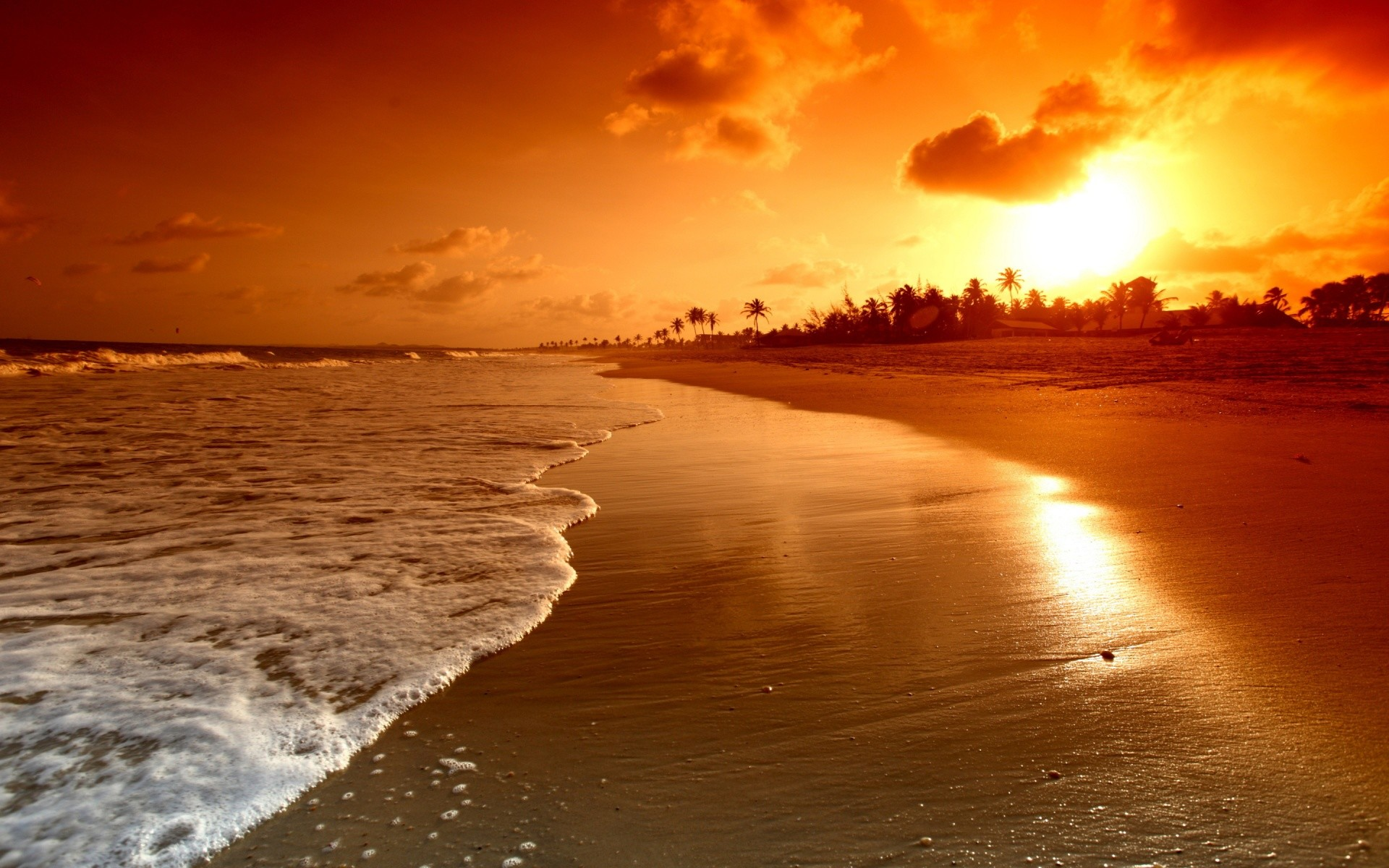 Sunset Beach Wallpaper 77 Pictures