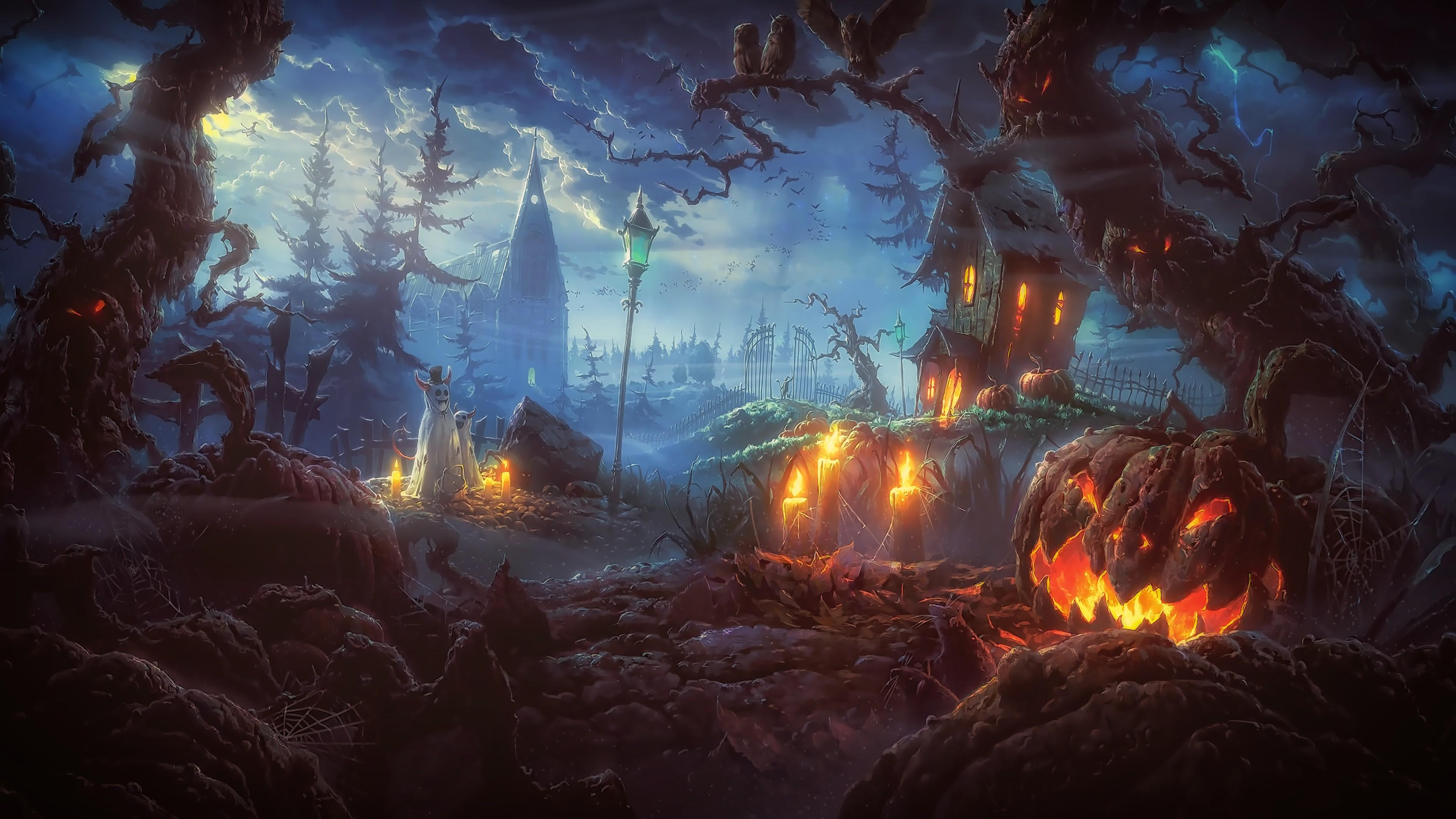 Halloween Spooky Wallpaper.Scary Halloween Desktop Backgrounds 62 Pictures