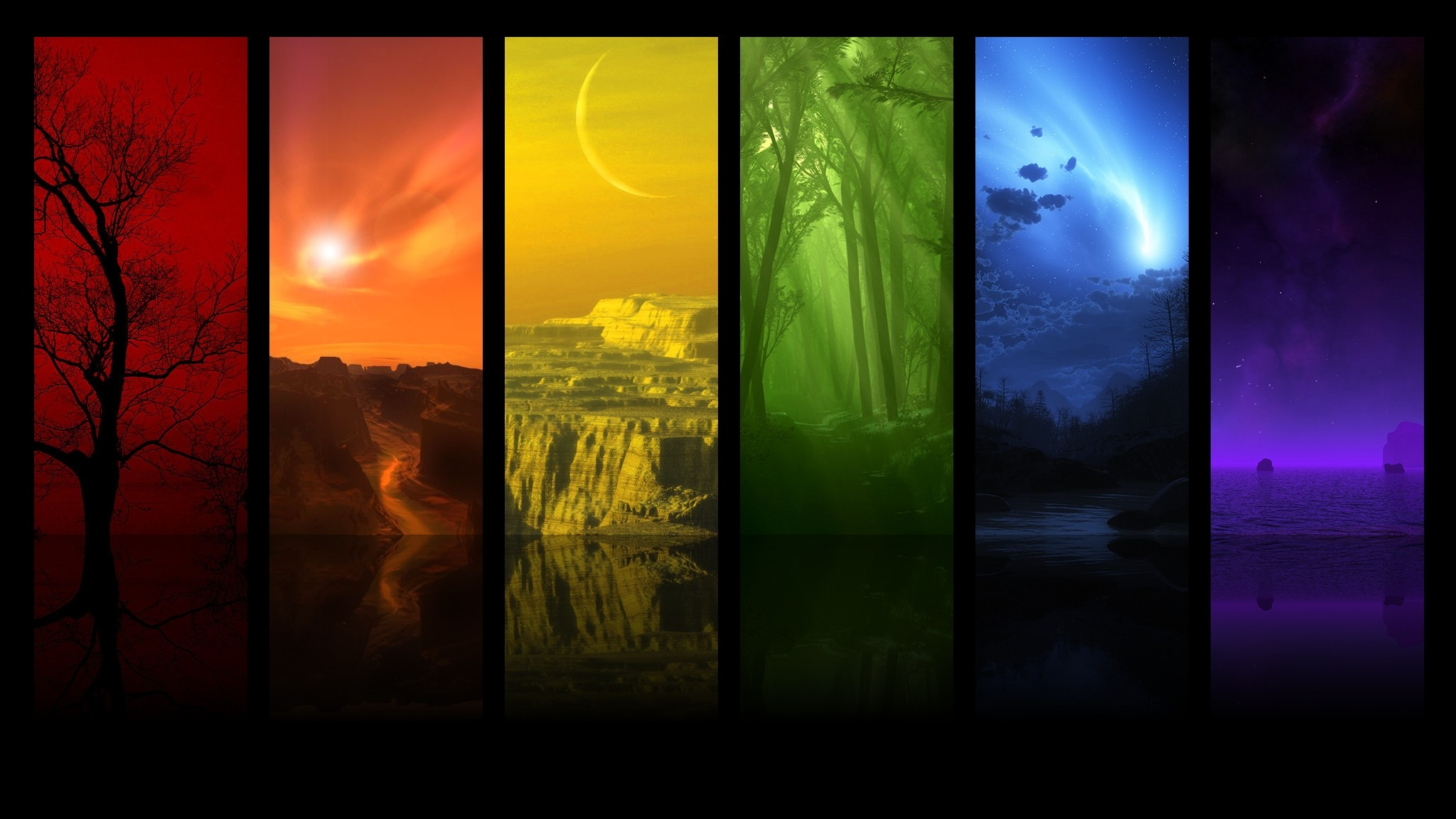 Trippy landscape wallpaper 61 pictures - Digital art wallpaper 3840x1080 ...
