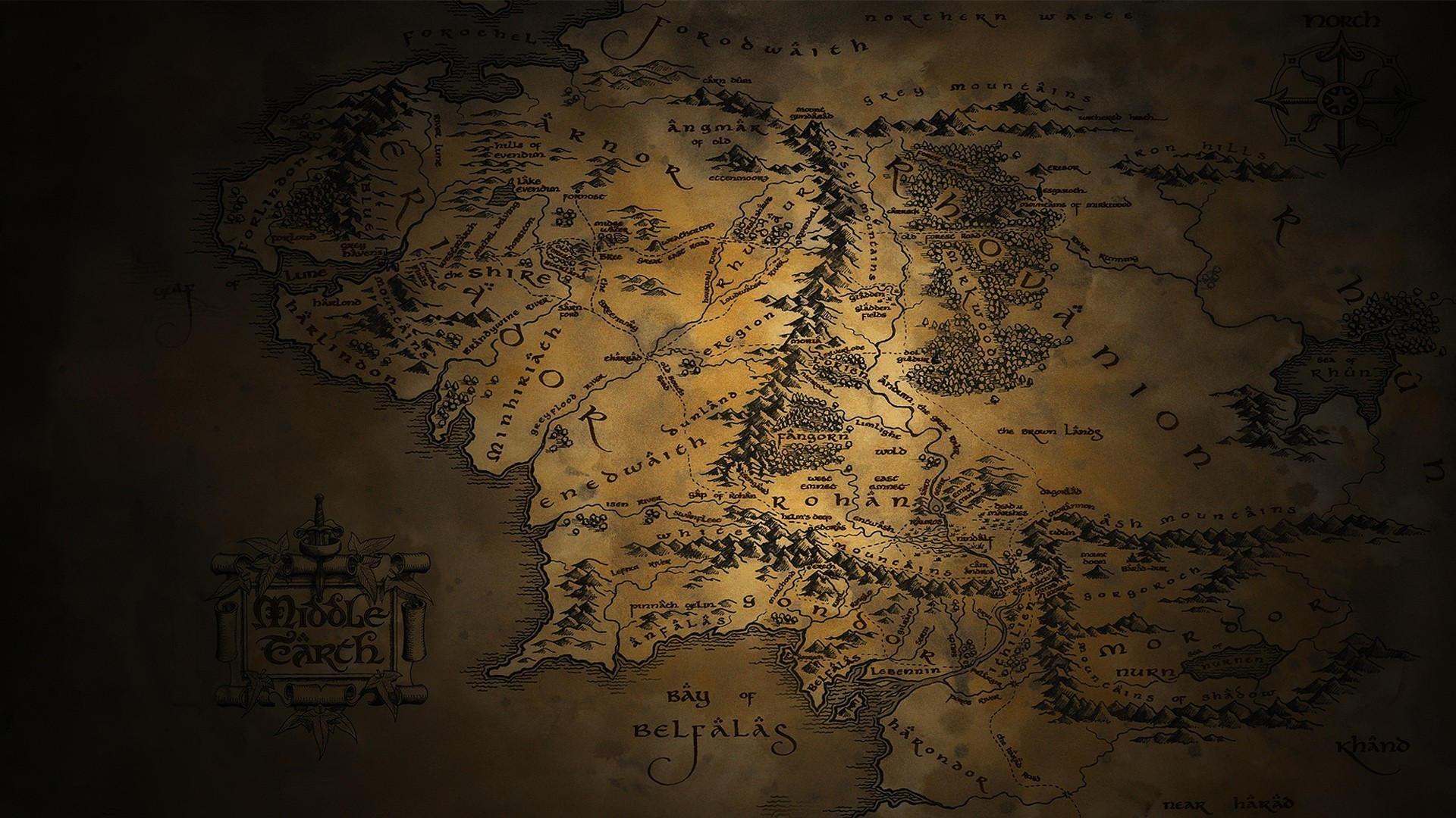 Lord Of The Rings Map Wallpaper 62 Pictures