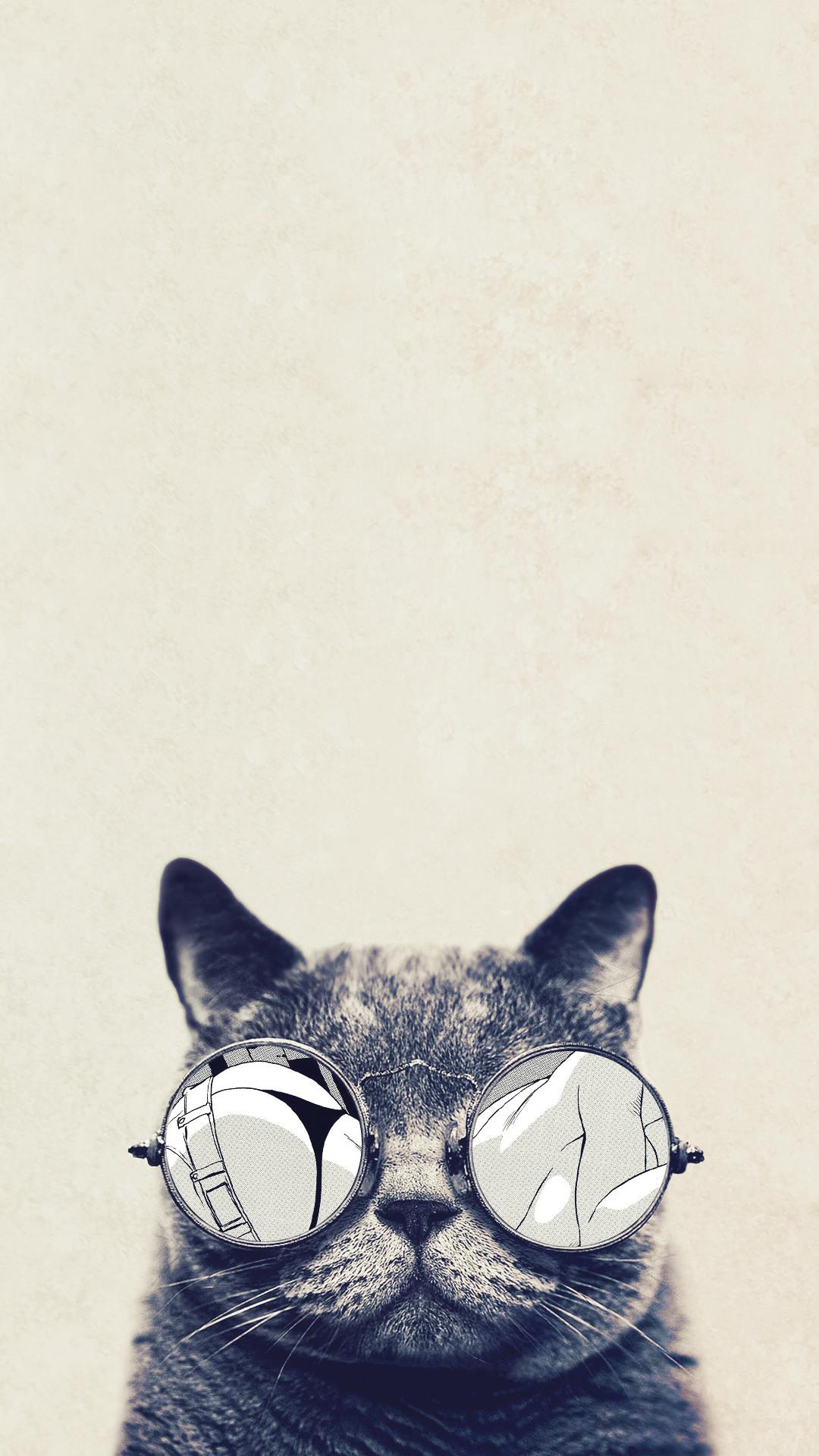 Cool Cat Glasses Android Wallpaper.jpg 1,080×1,920 pixels 1080x1920