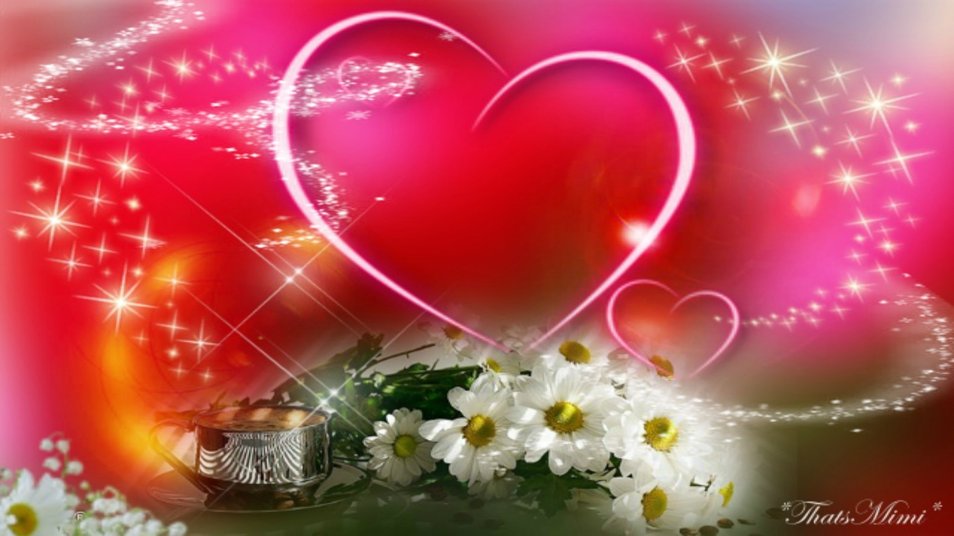 Hearts and flowers wallpaper 63 pictures 2560x1600 heart flowers izmirmasajfo