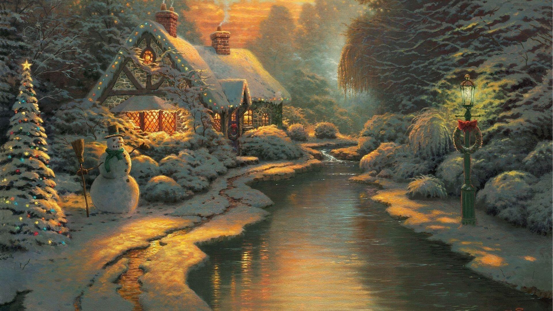 Thomas Kinkade Christmas Wallpapers (63+ pictures)
