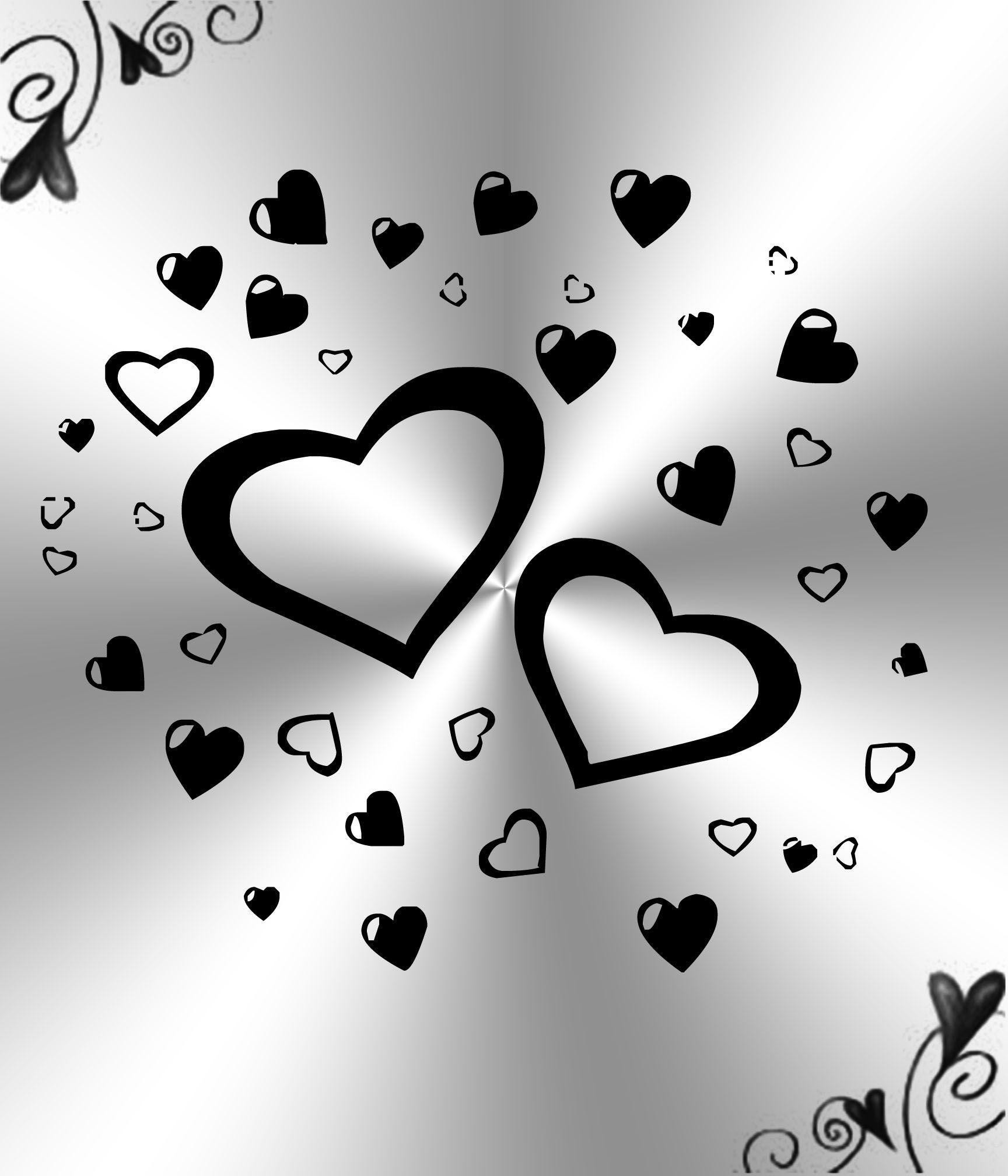 Black And White Heart Wallpaper 55 Pictures