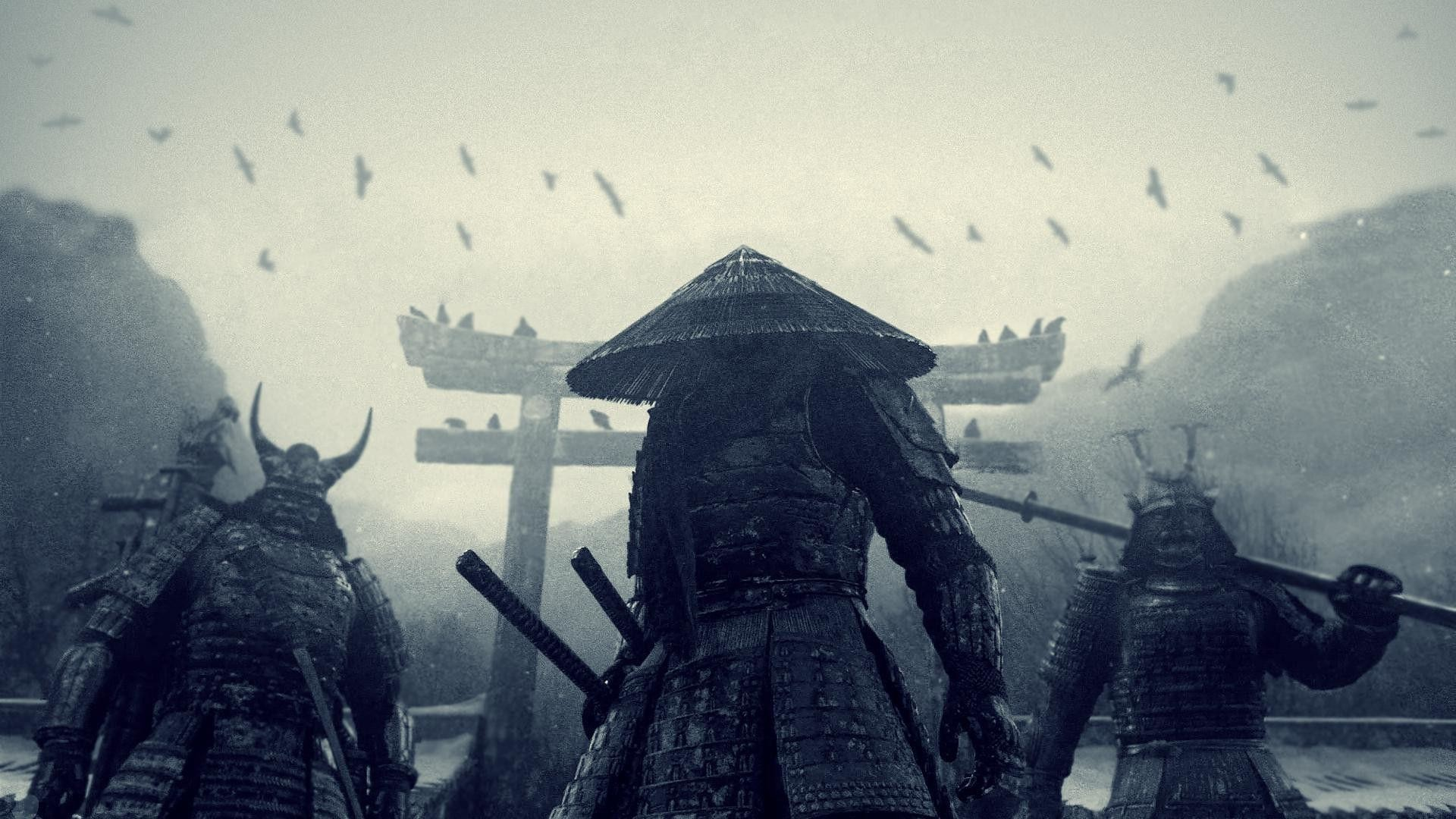 Traditional Japanese Samurai Art Wallpaper