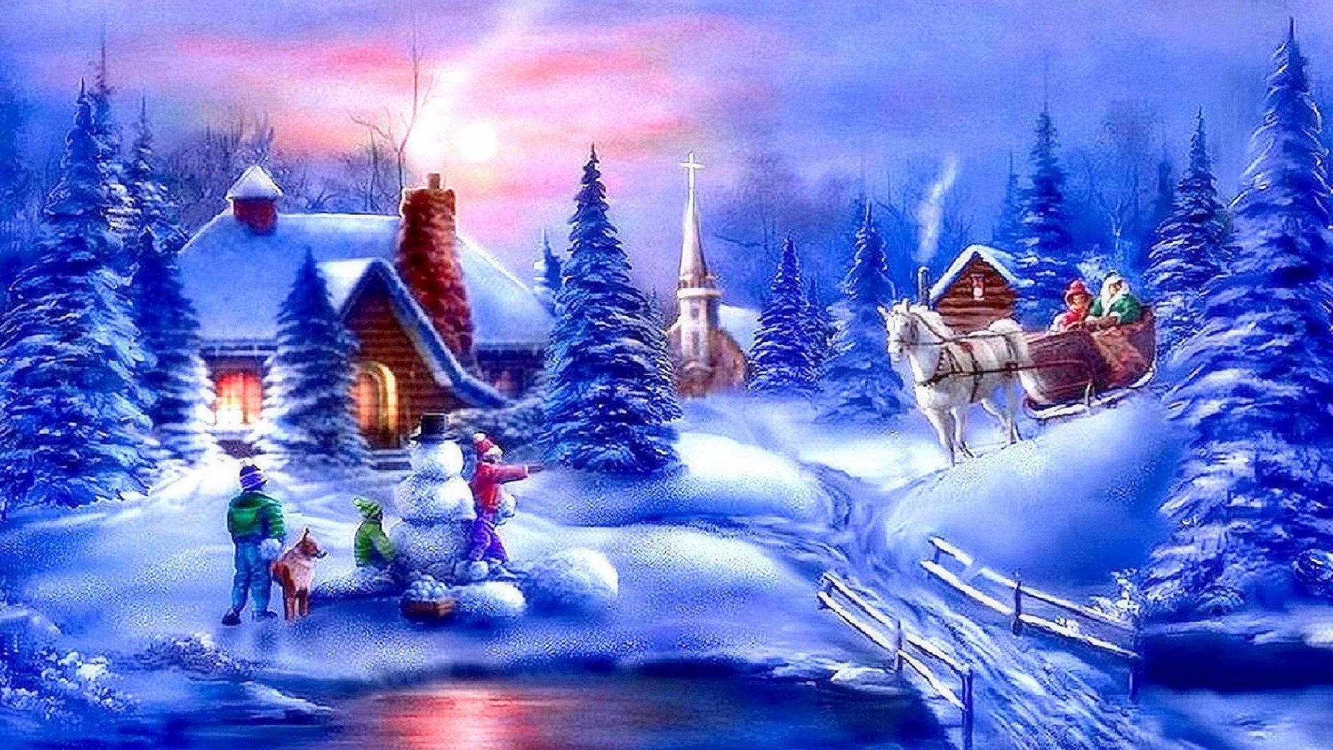 snowy scene wallpaper 54 pictures