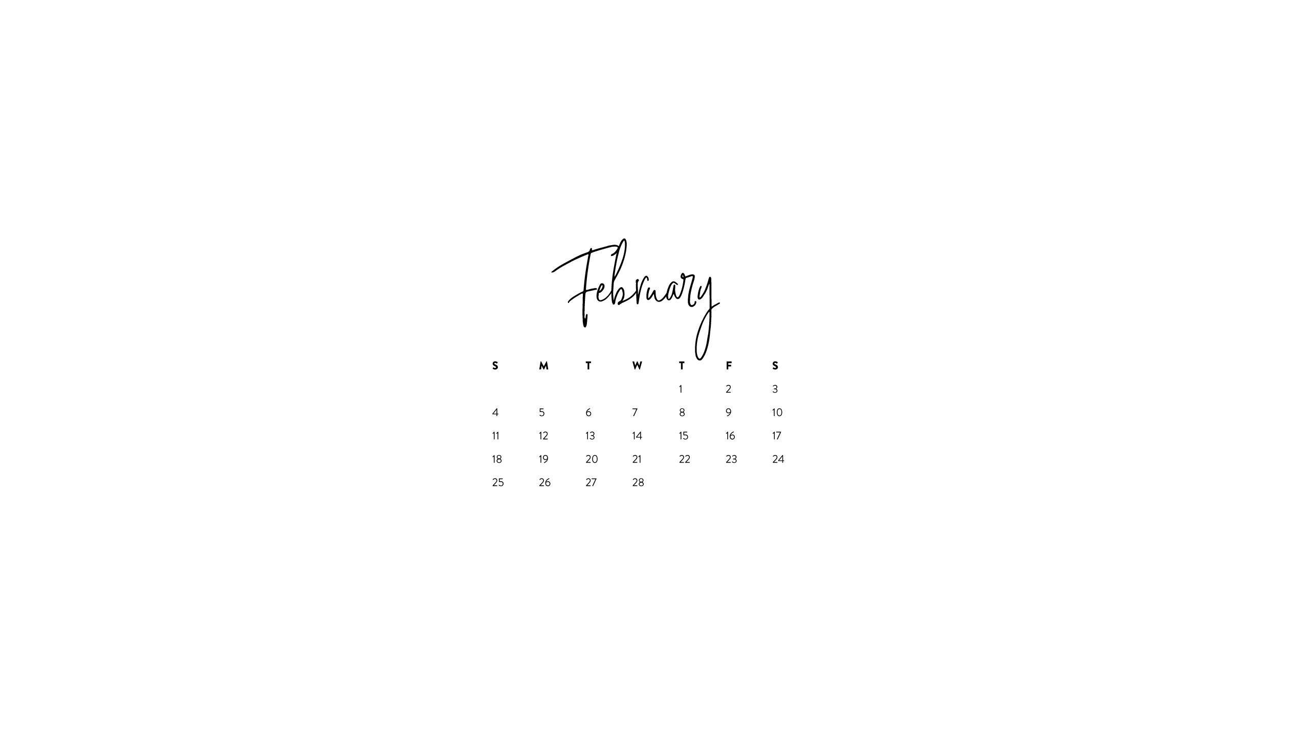 Desktop Wallpapers Calendar February 2018 70 Pictures