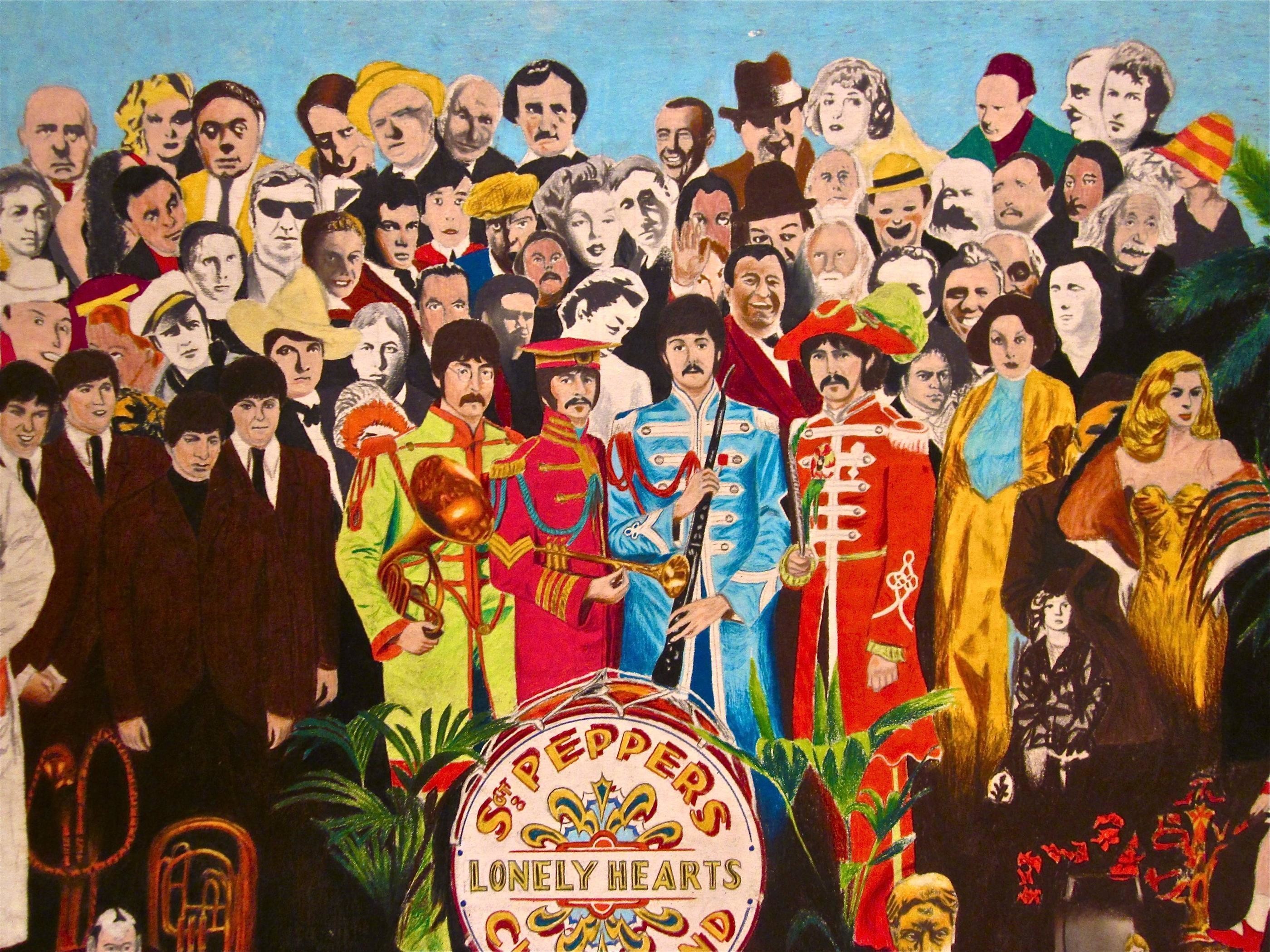 Обои The beatles, sgt. peppers lonely hearts club band, yellow submarine. Музыка foto 16