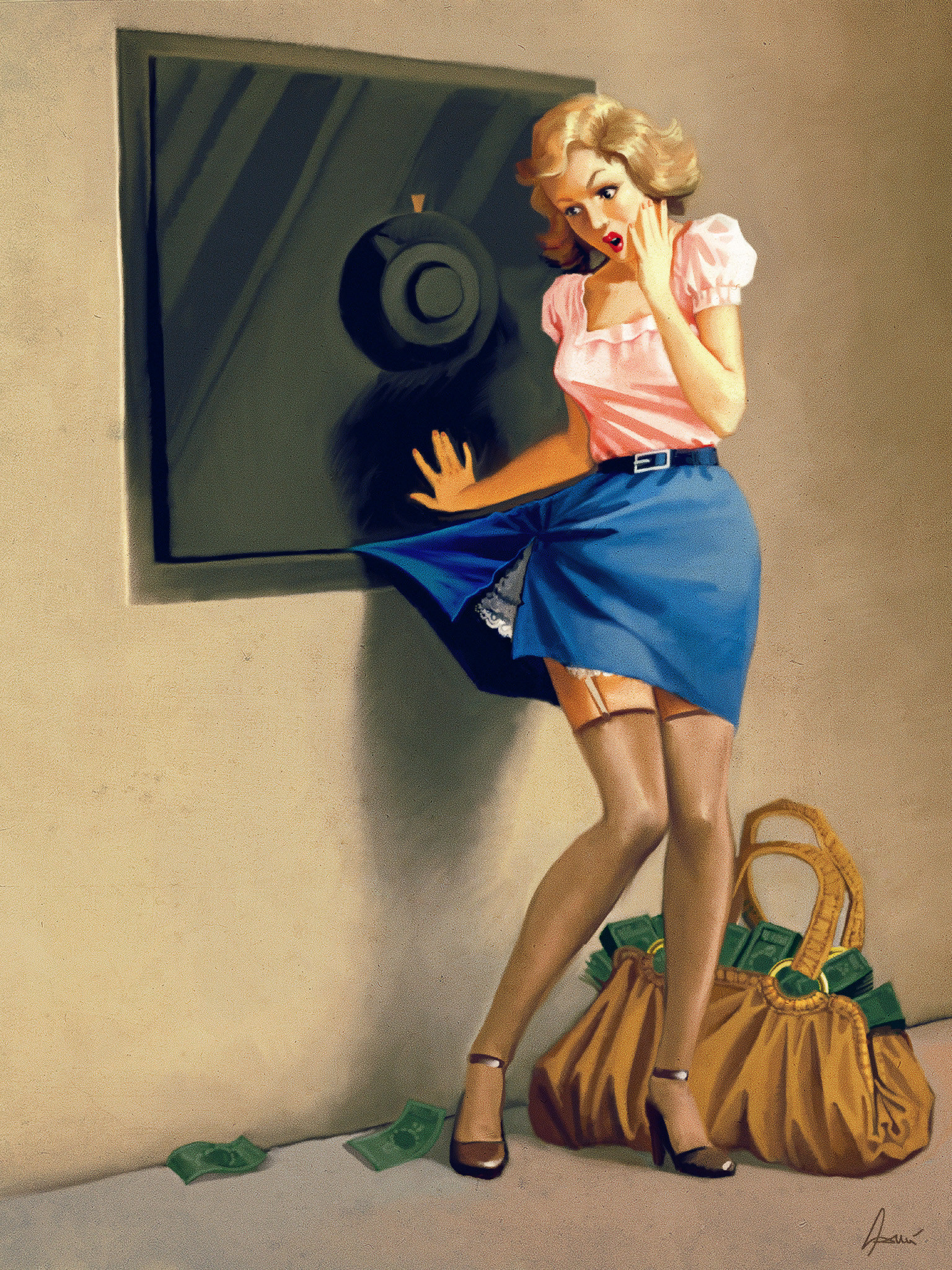 Vintage Pin Up Wallpaper (62+ pictures)