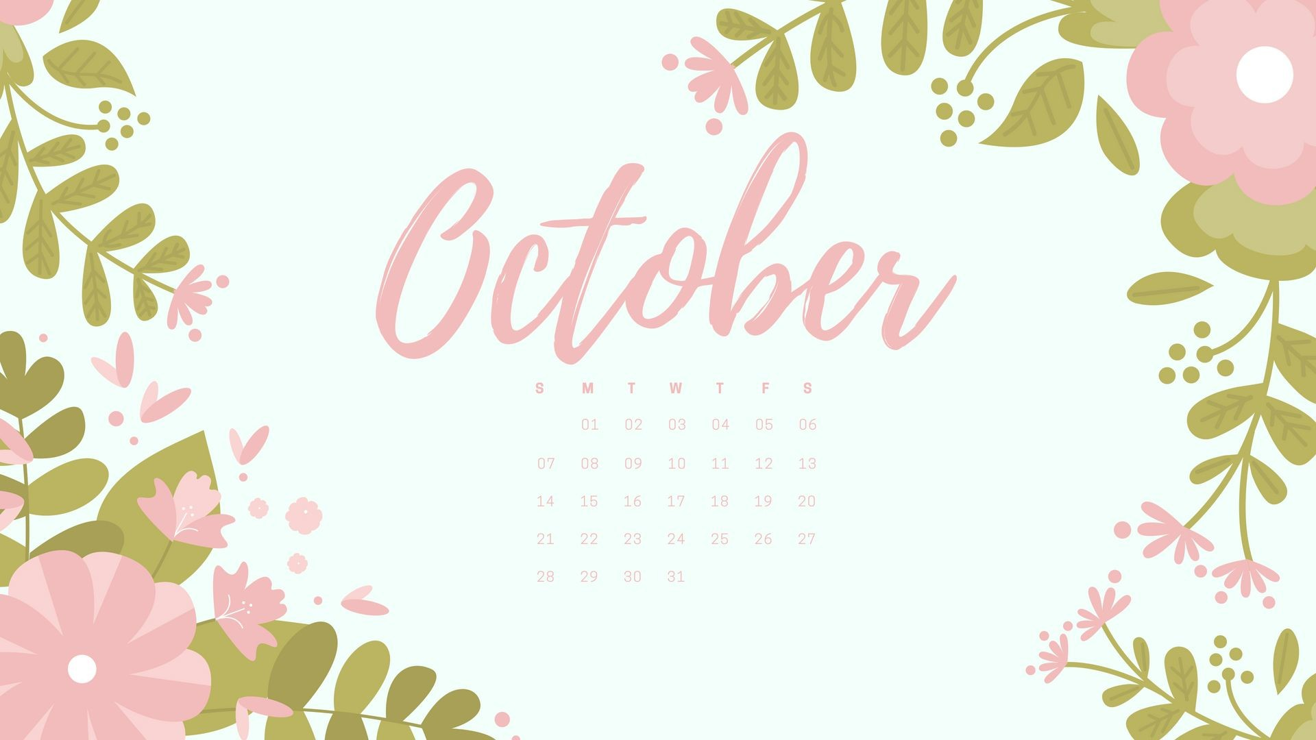 Desktop Wallpapers Calendar October 2018 72 Pictures