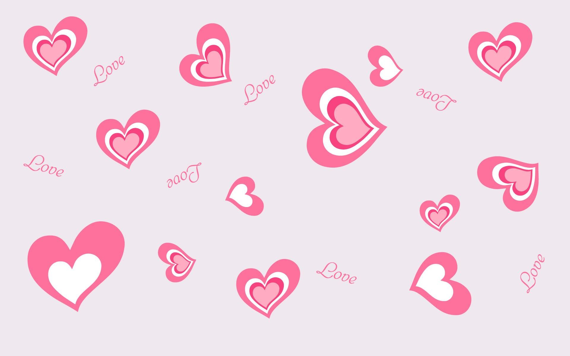 Pink Love Heart Backgrounds 56 Pictures