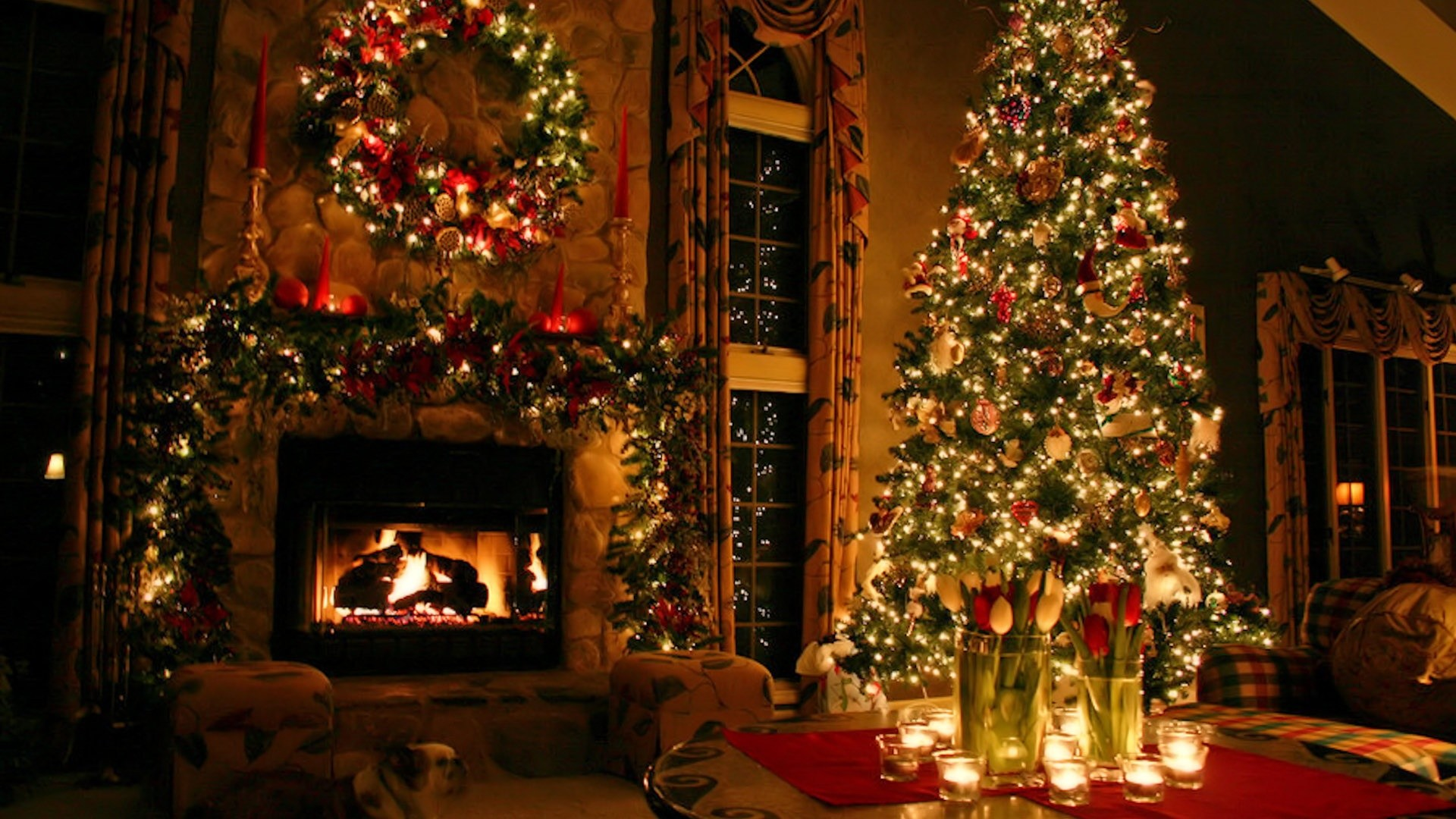 Marvelous Christmas Desktop Wallpapers 62 Pictures Home Interior And Landscaping Eliaenasavecom