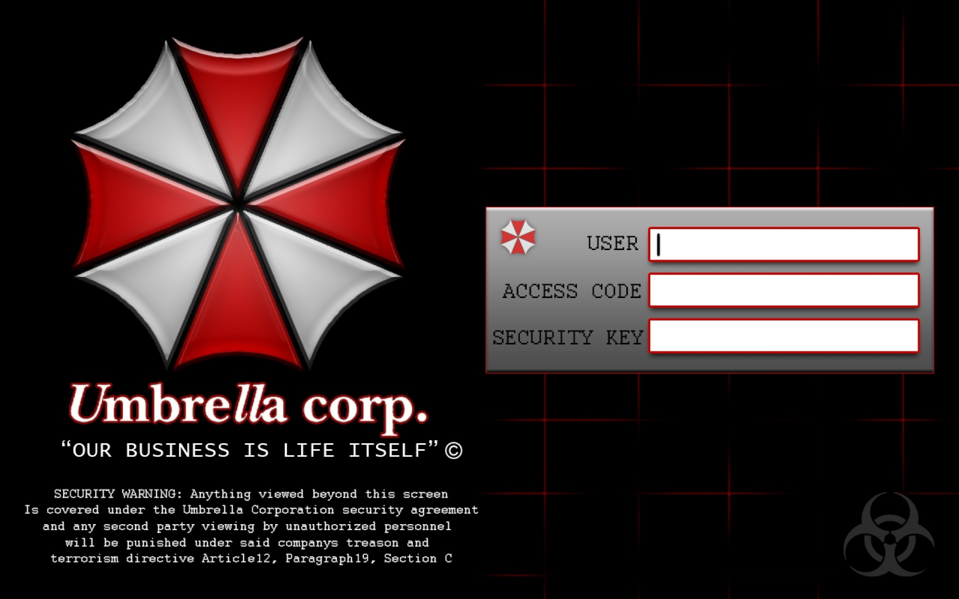 Download Umbrella Corp Wallpaper Iphone JPG