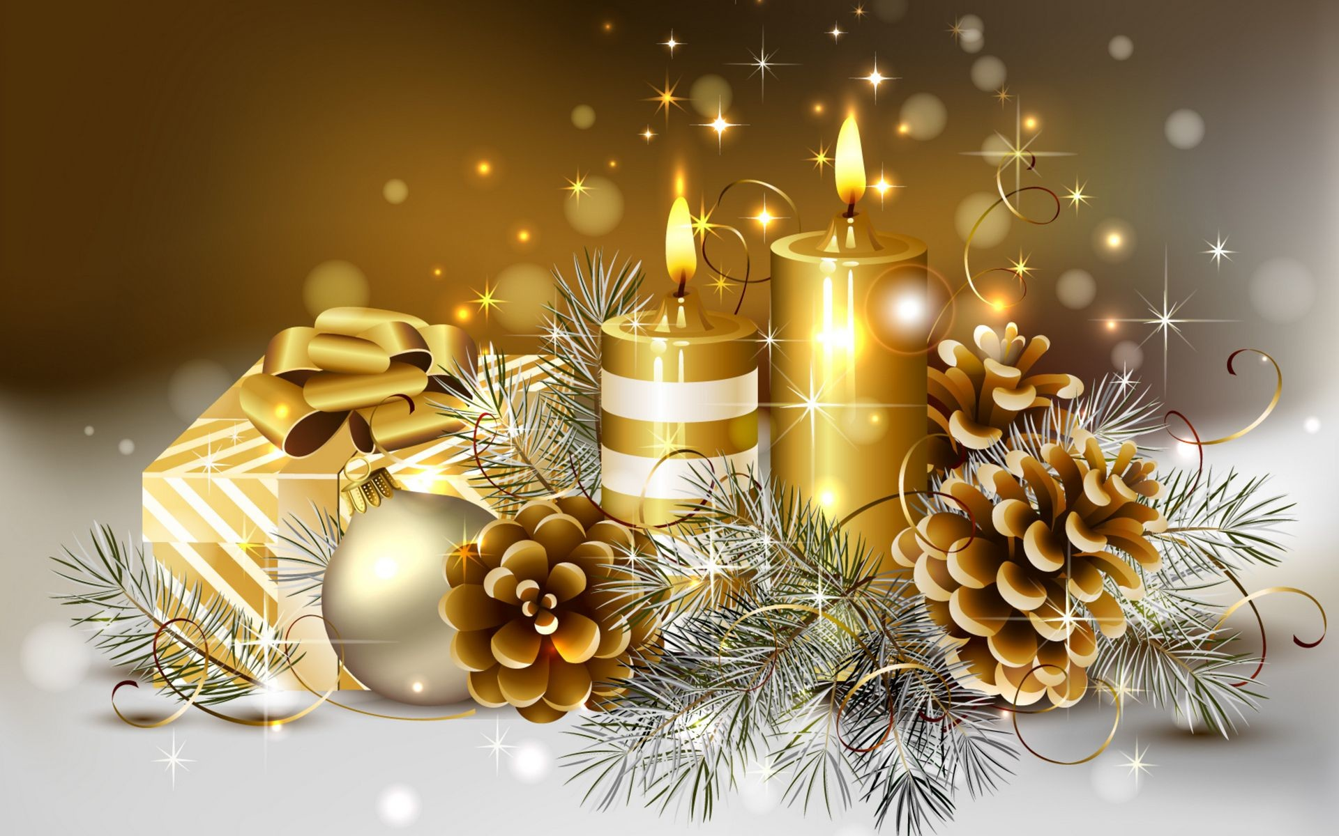Christmas Candle Wallpaper 66 Pictures