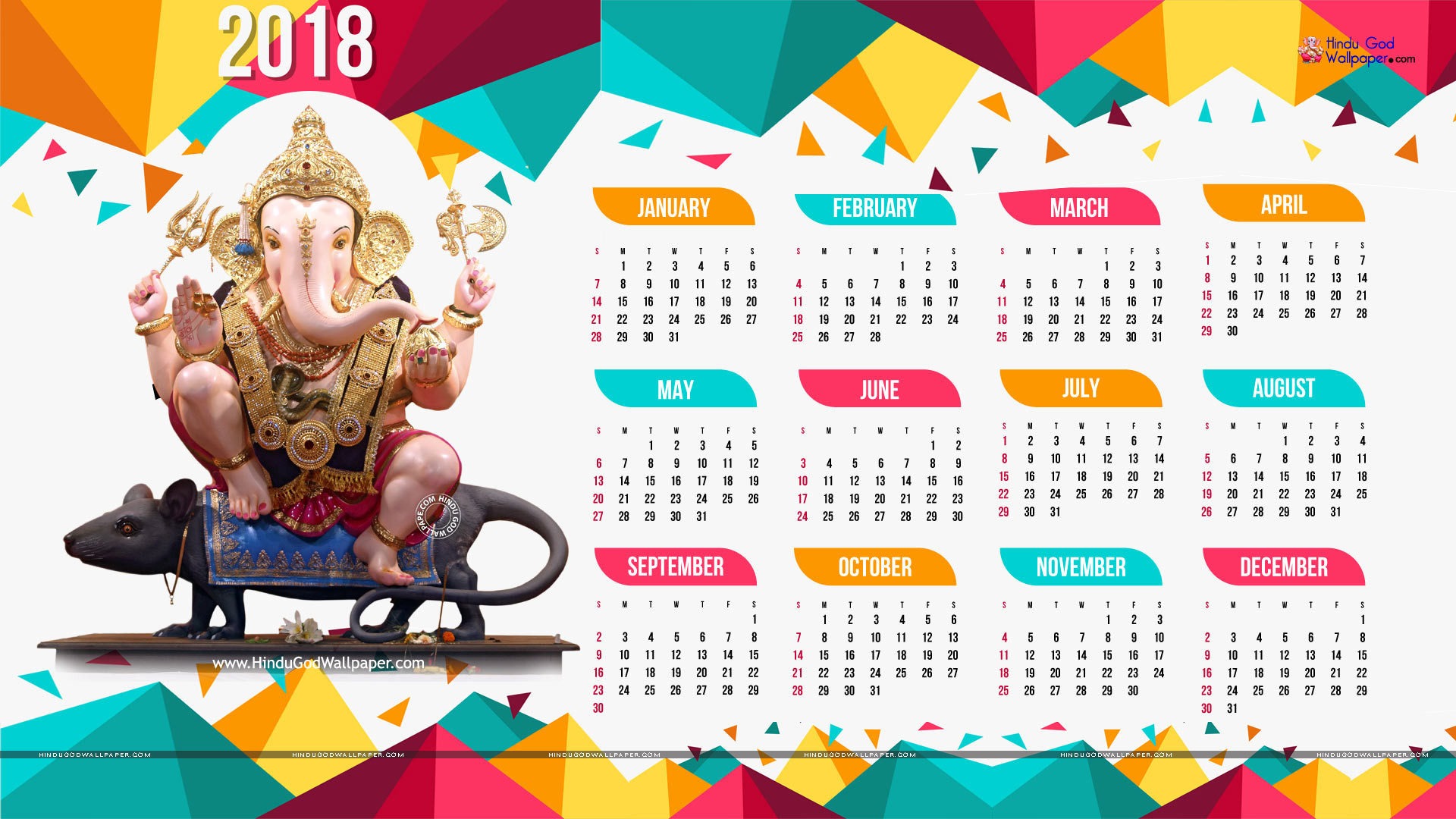 Wallpapers With Calendar 2018 52 Pictures