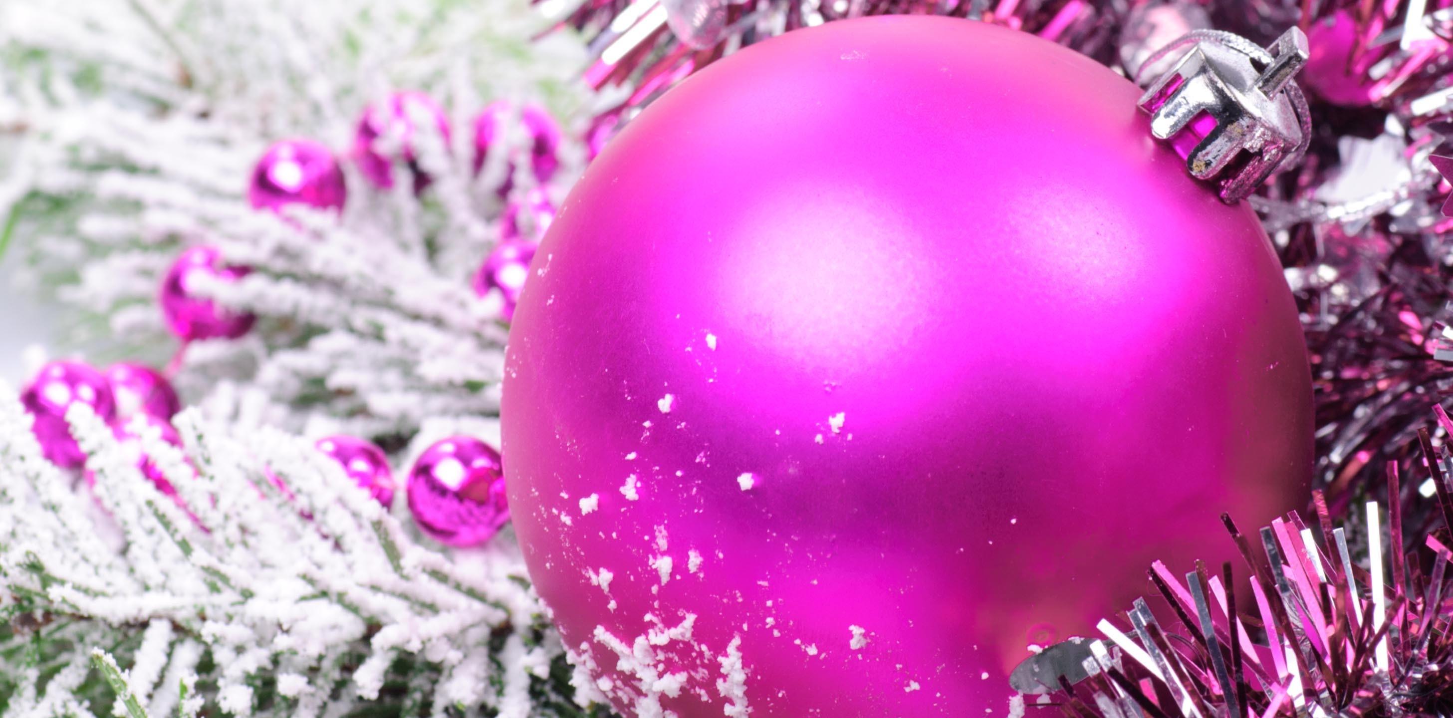 Pink Christmas Desktop Background