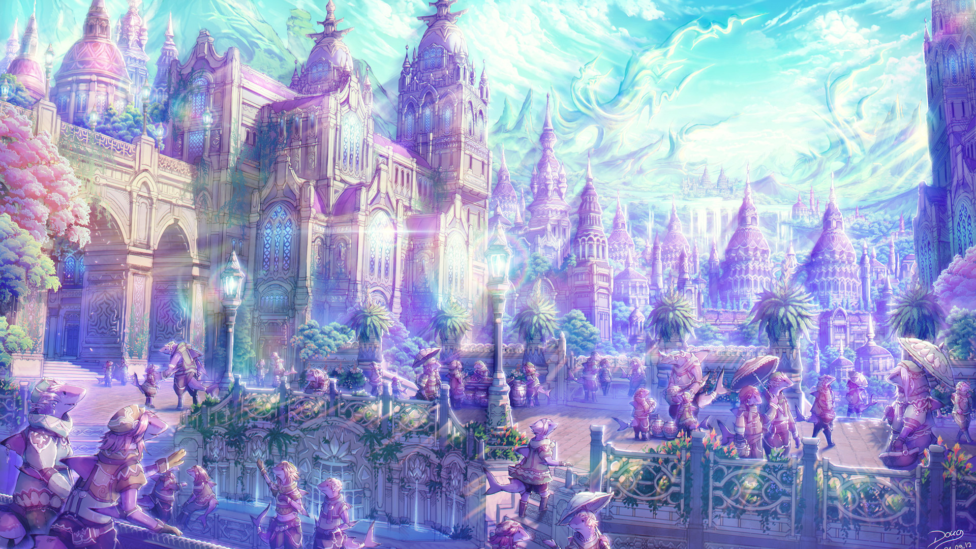 20+ Anime City Background  Pictures