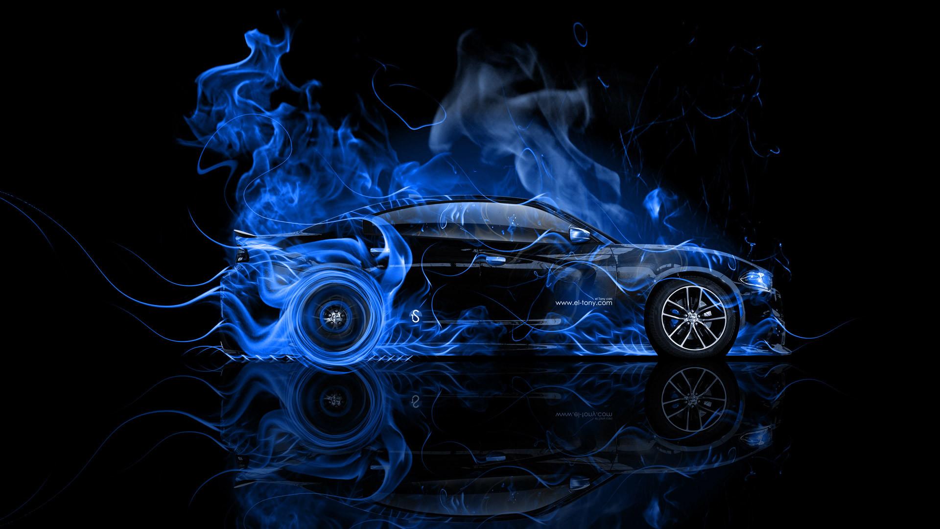 Lexus LF LC Blue Fire Abstract Car 2013