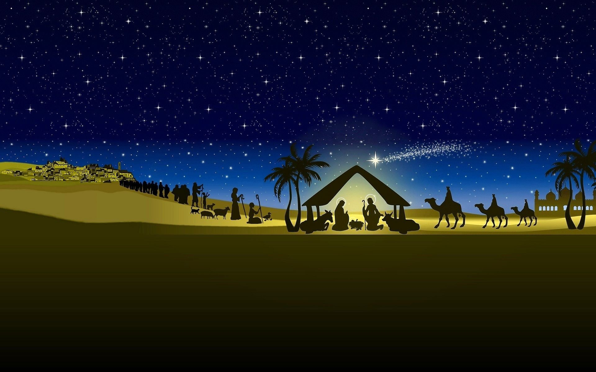 Christmas Scene Background (43+ pictures)