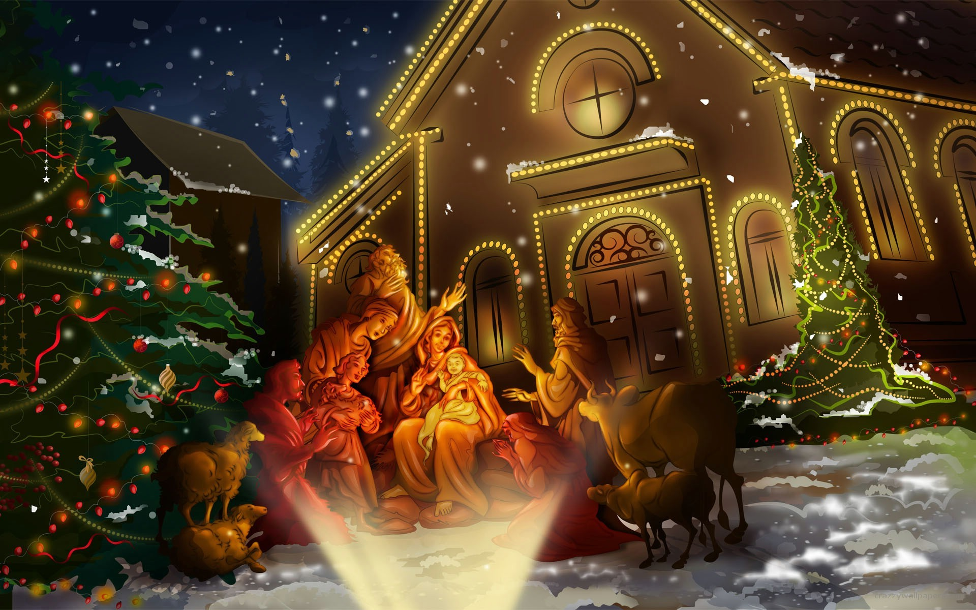 Christmas Wallpaper For Computer Background 60 Pictures