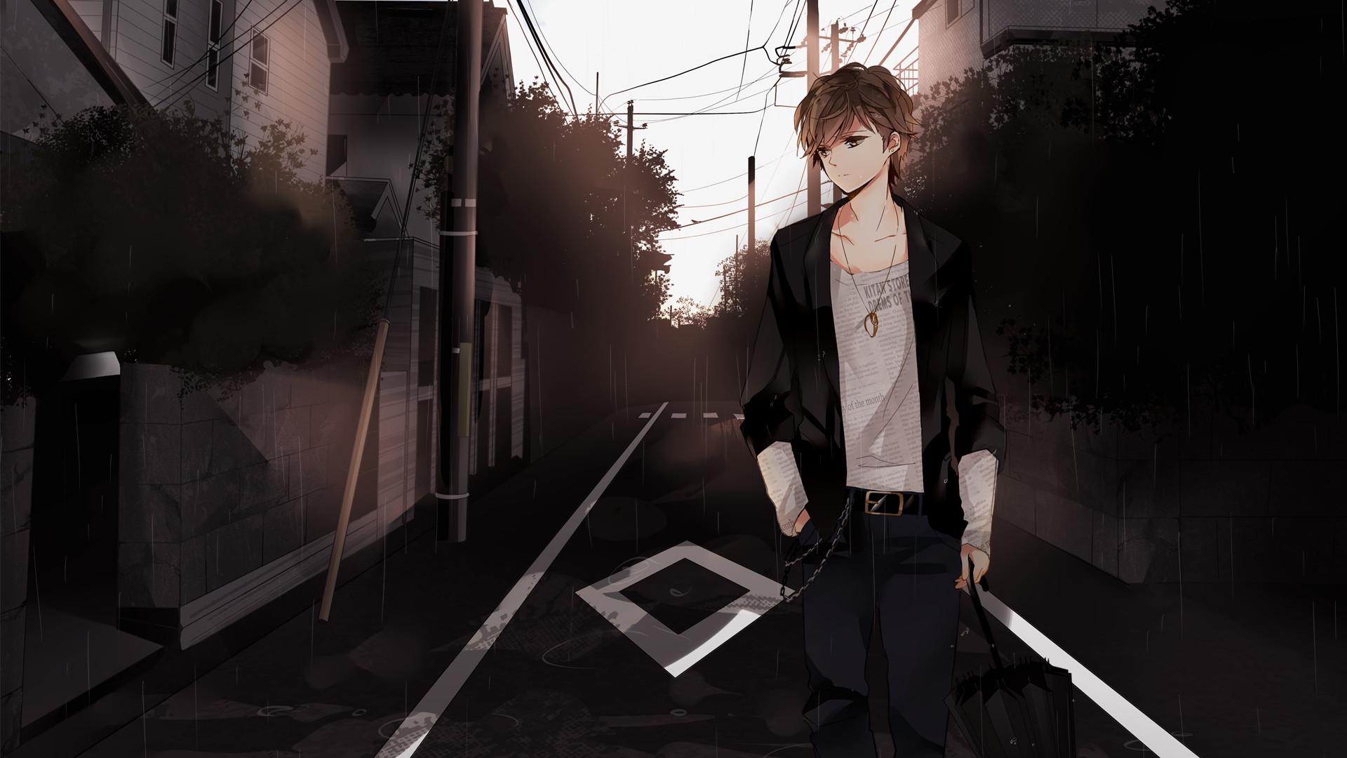 Anime Lover Broken Hearted Sad Anime Boy Wallpaper