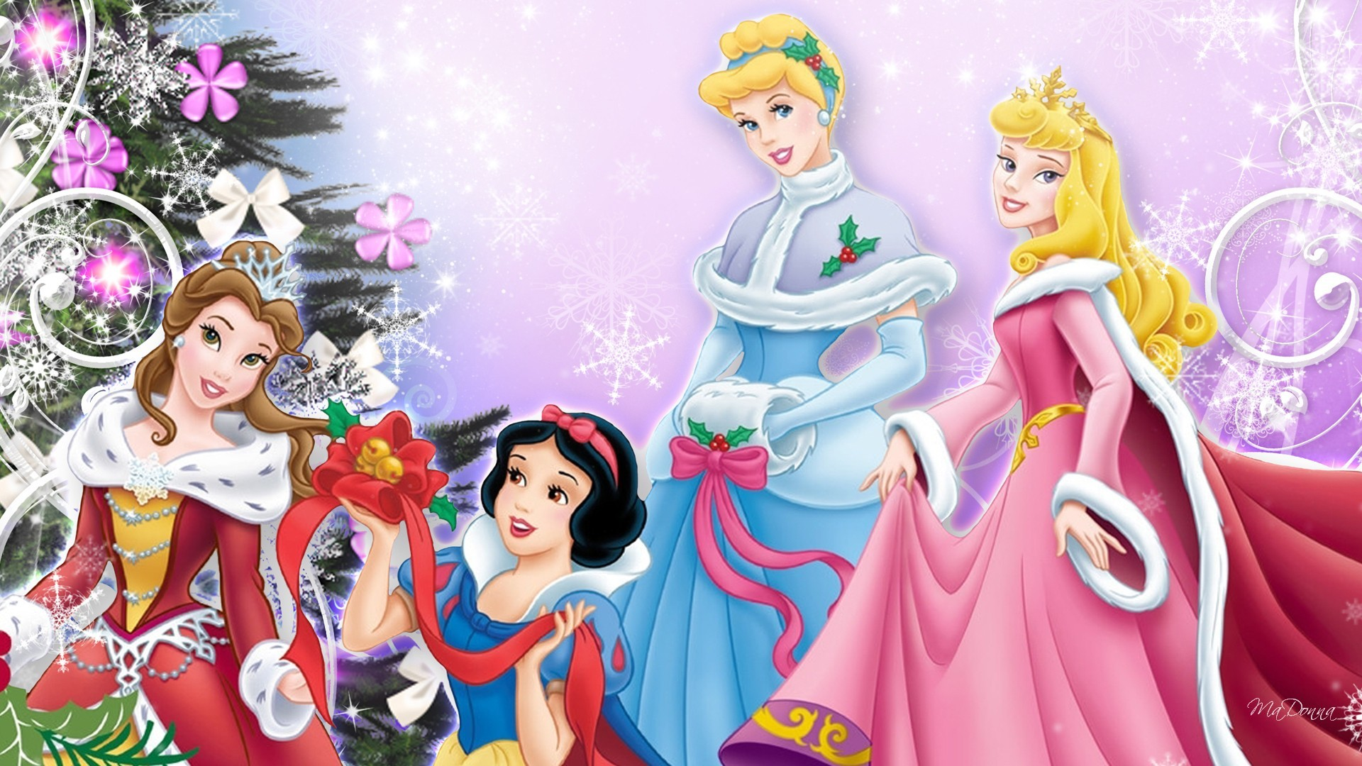 1920x1080 A Cinderella Christmas Wallpaper Free