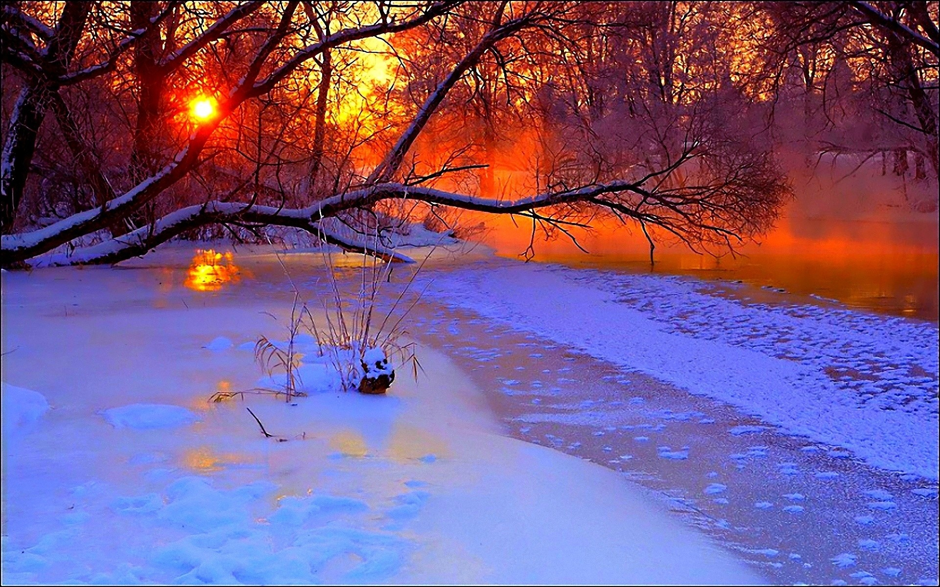 Winter Sunset Wallpaper 74 Pictures