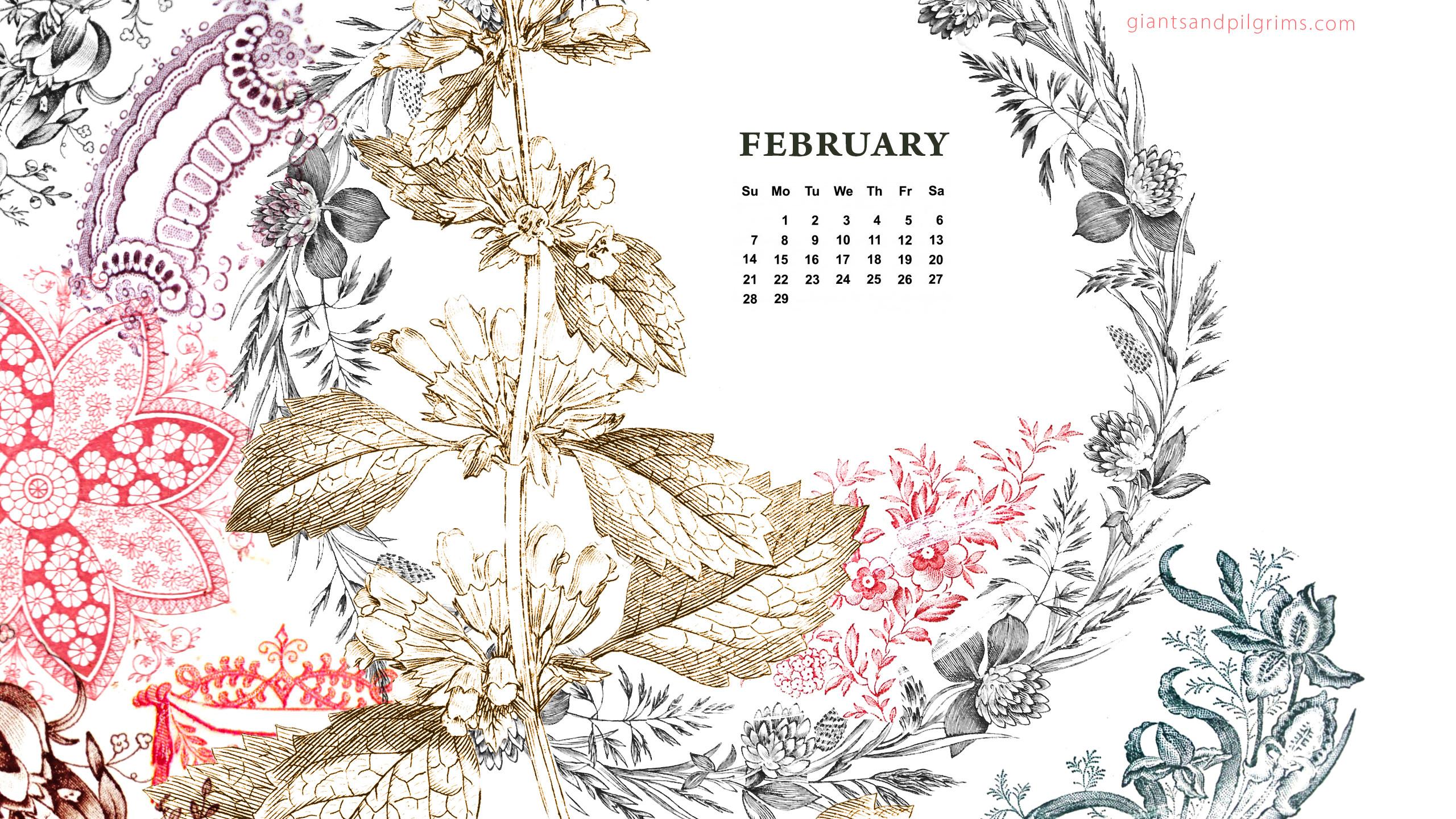 February Wallpaper Calendar Desktop Background : Desktop wallpaper calendar february  pictures