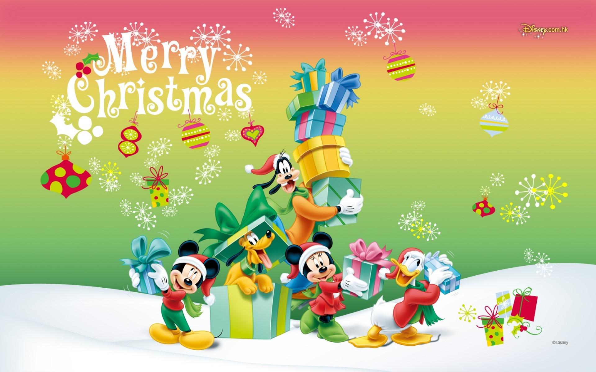 Mickey Mouse Christmas Backgrounds (64+
