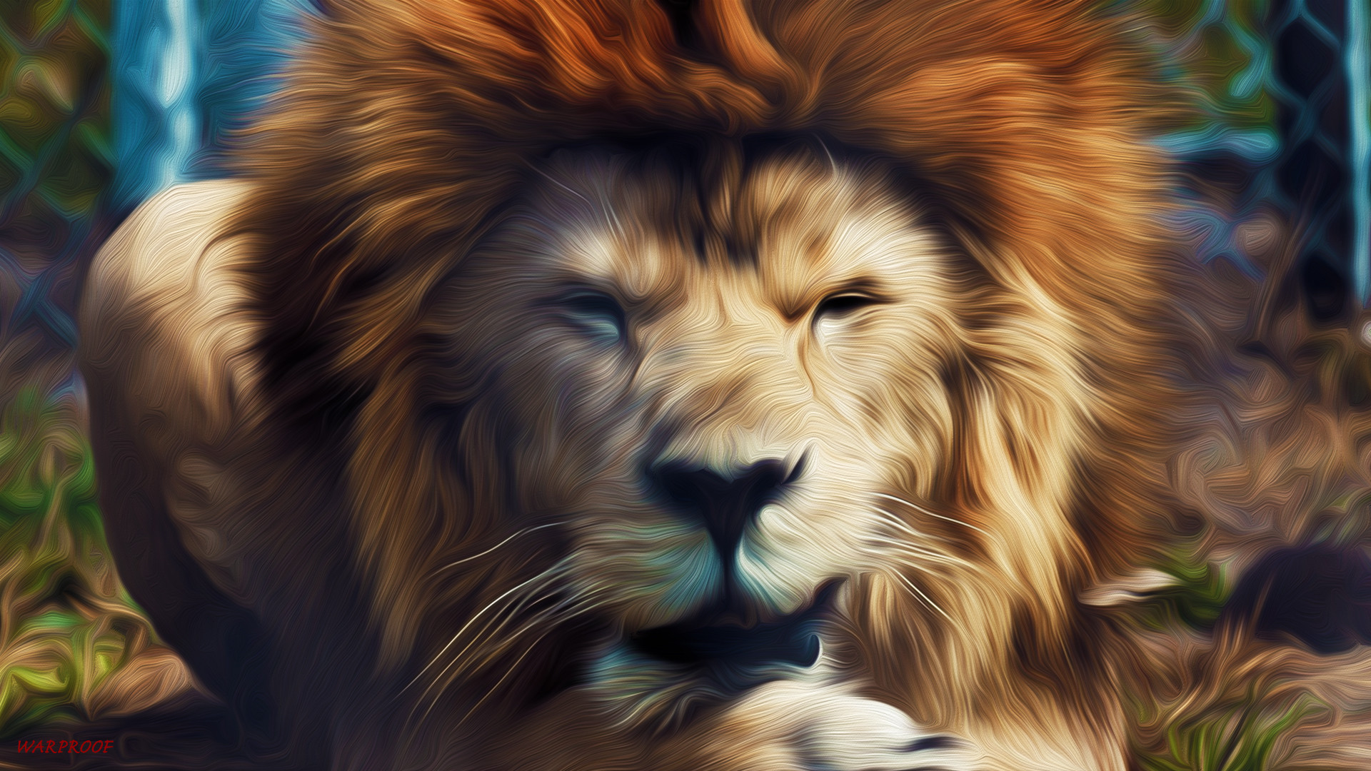 Abstract Lion Face Shaped Design QHD Wallpaper Wallpaper Vactual