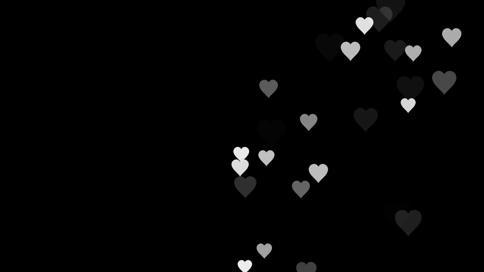 Hearts With Black Background 40 Pictures