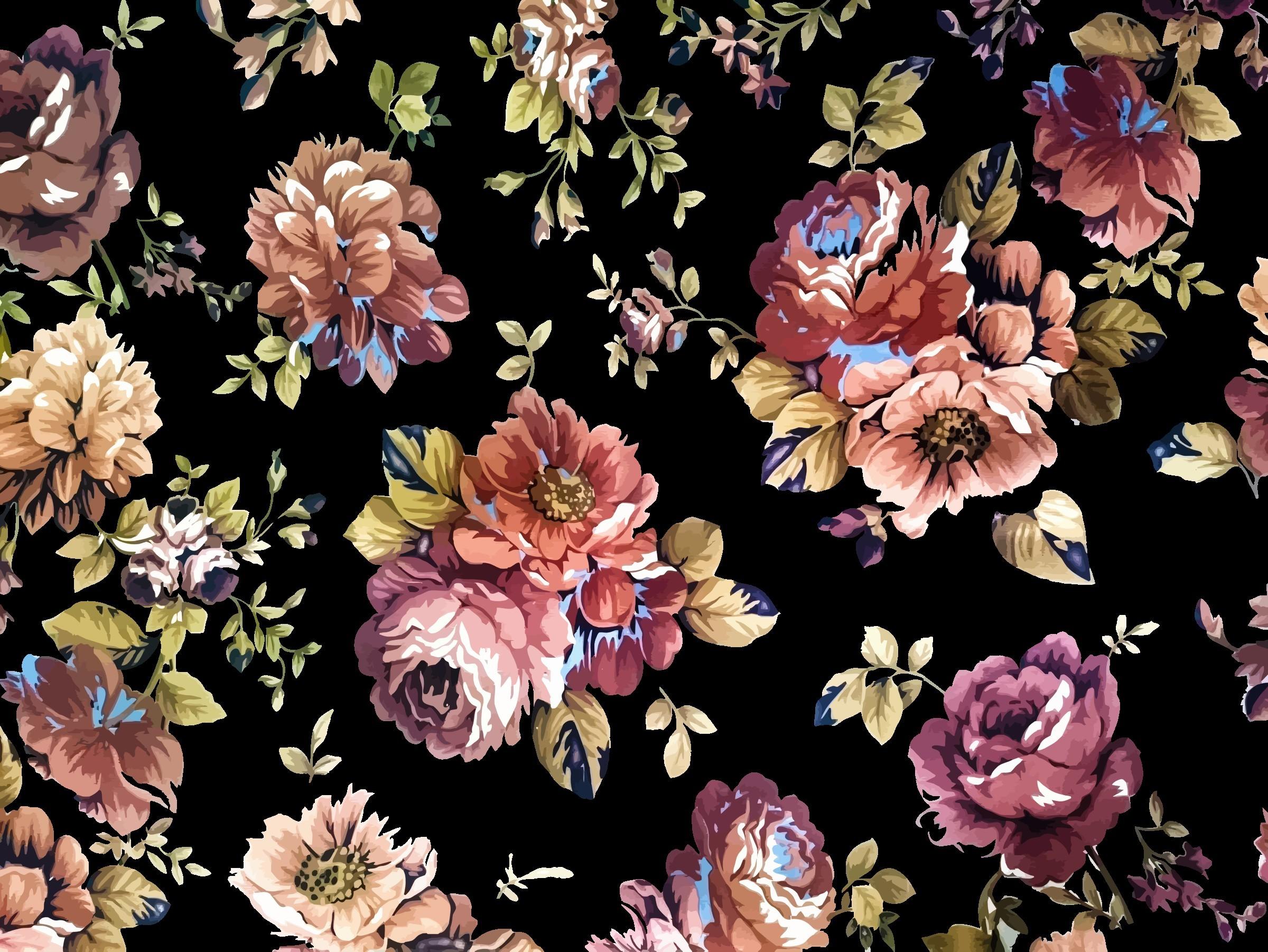 Vintage Flower Backgrounds (49+ pictures)