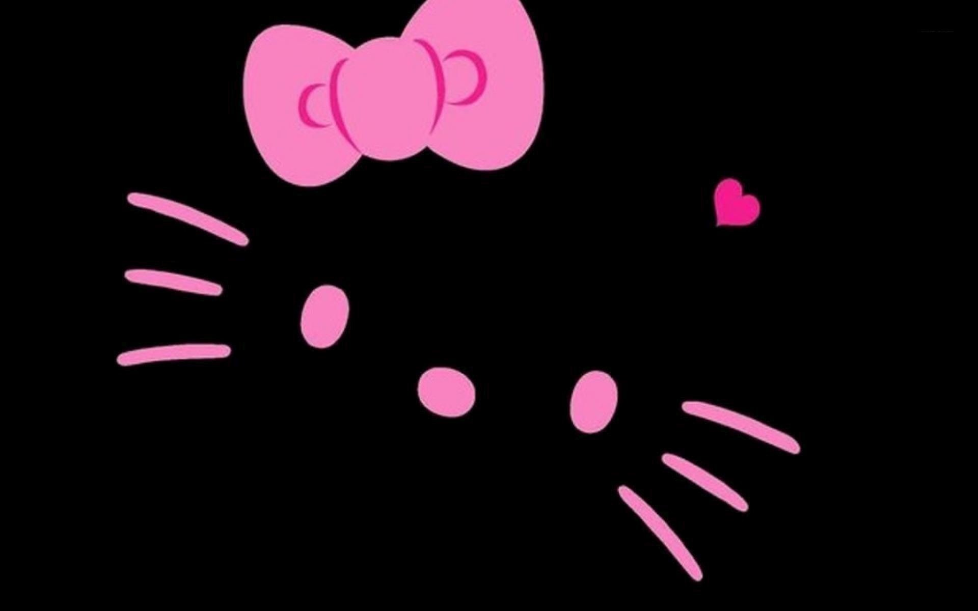 Hello Kitty With Black Background 57 Pictures