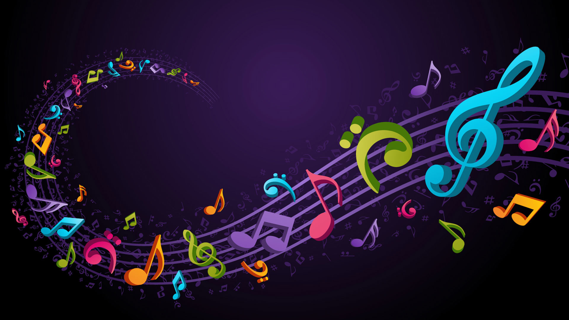 Colorful Music Notes In A Lin Hd Wallpaper Background Images: Music Desktop Backgrounds (57+ Pictures
