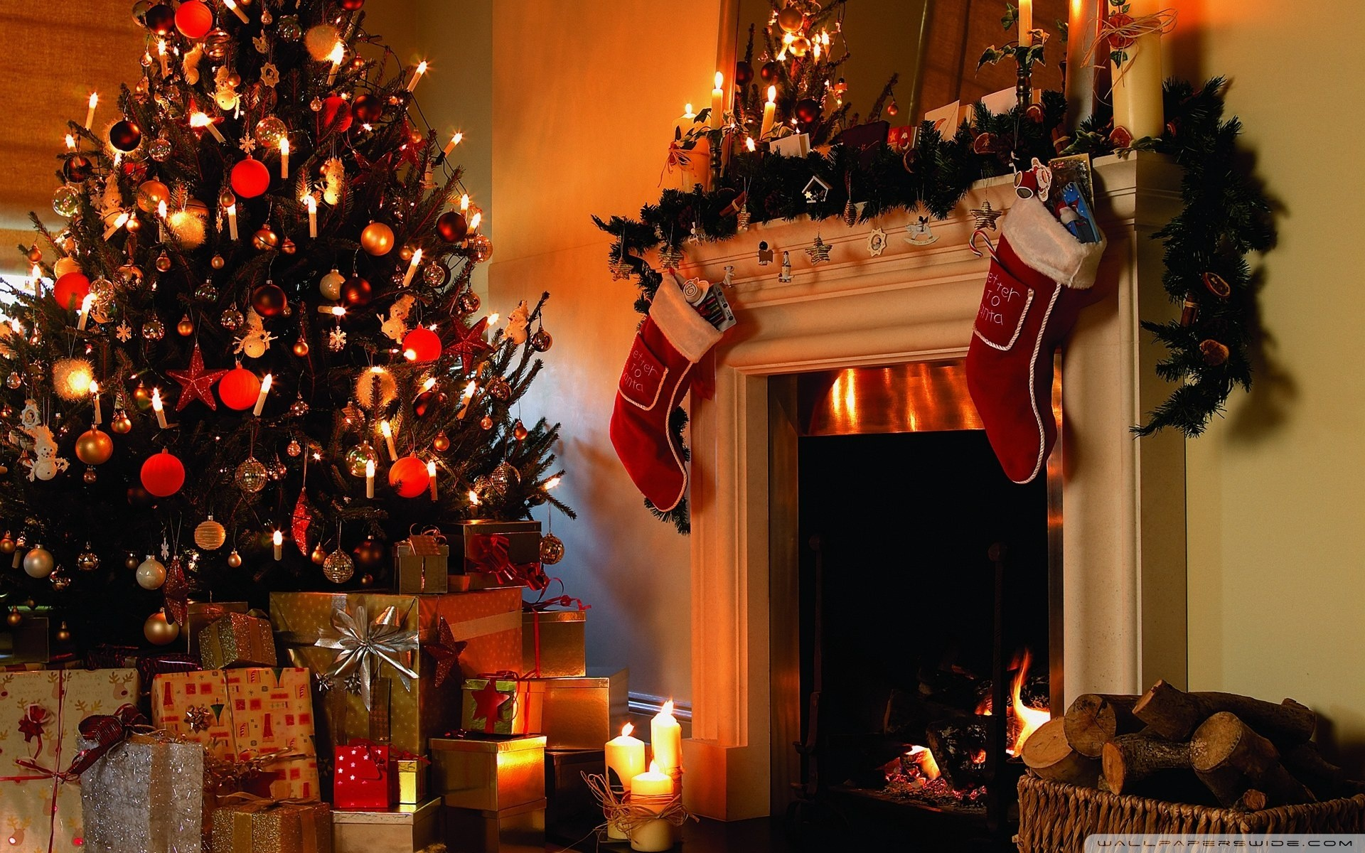 desktop christmas backgrounds (57+ pictures)