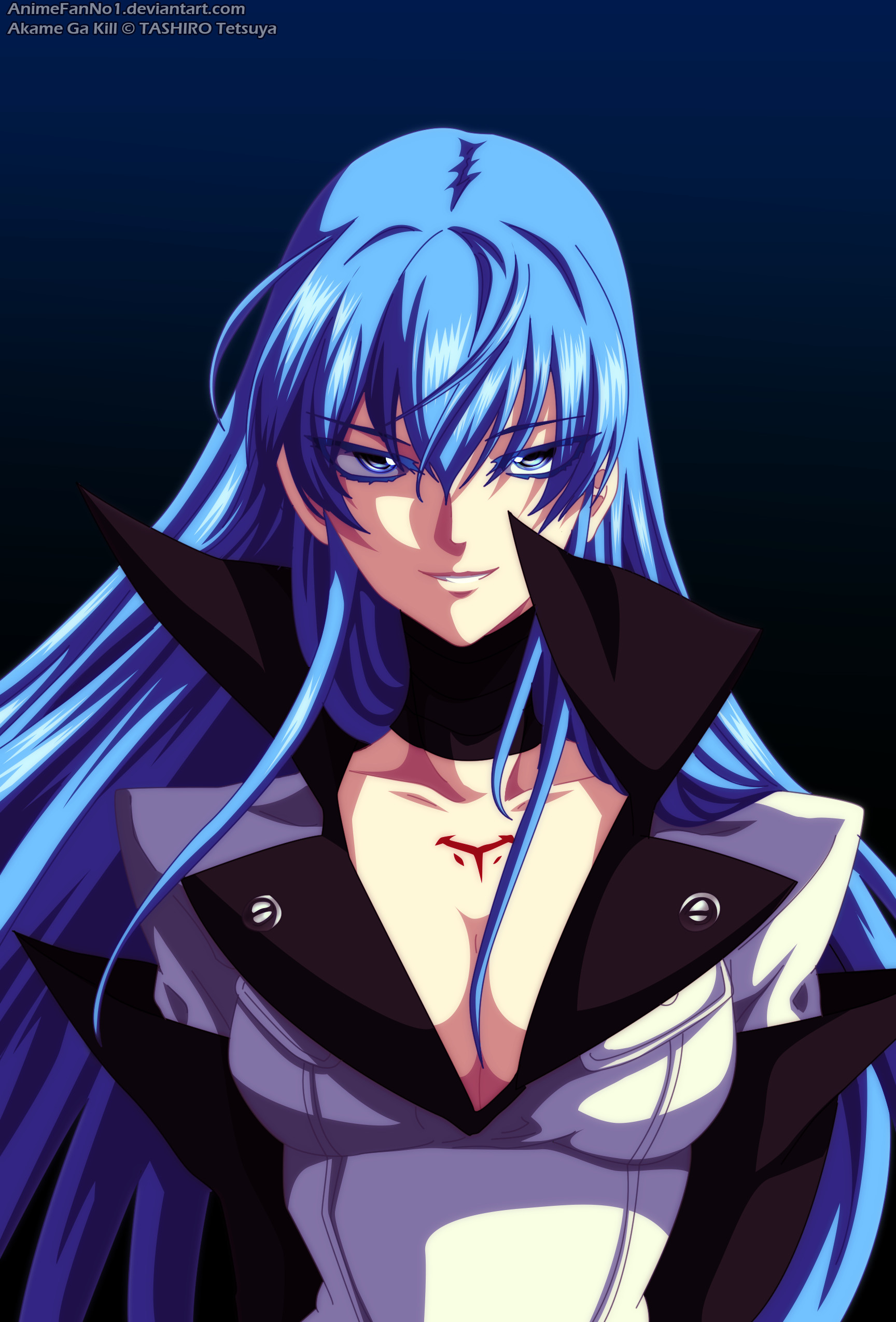 Esdeath - Akame Ga Kill Wallpaper Done By Me Rendered by