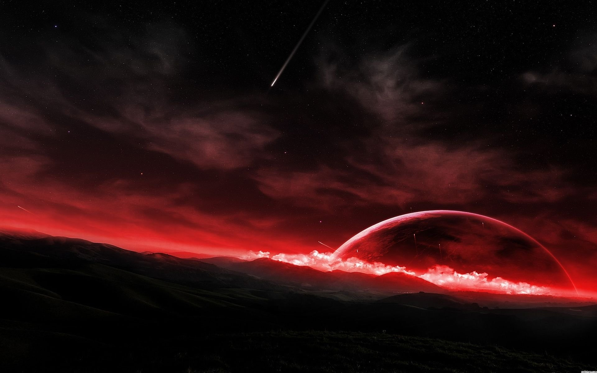 Red Moon Wallpaper 62 Pictures