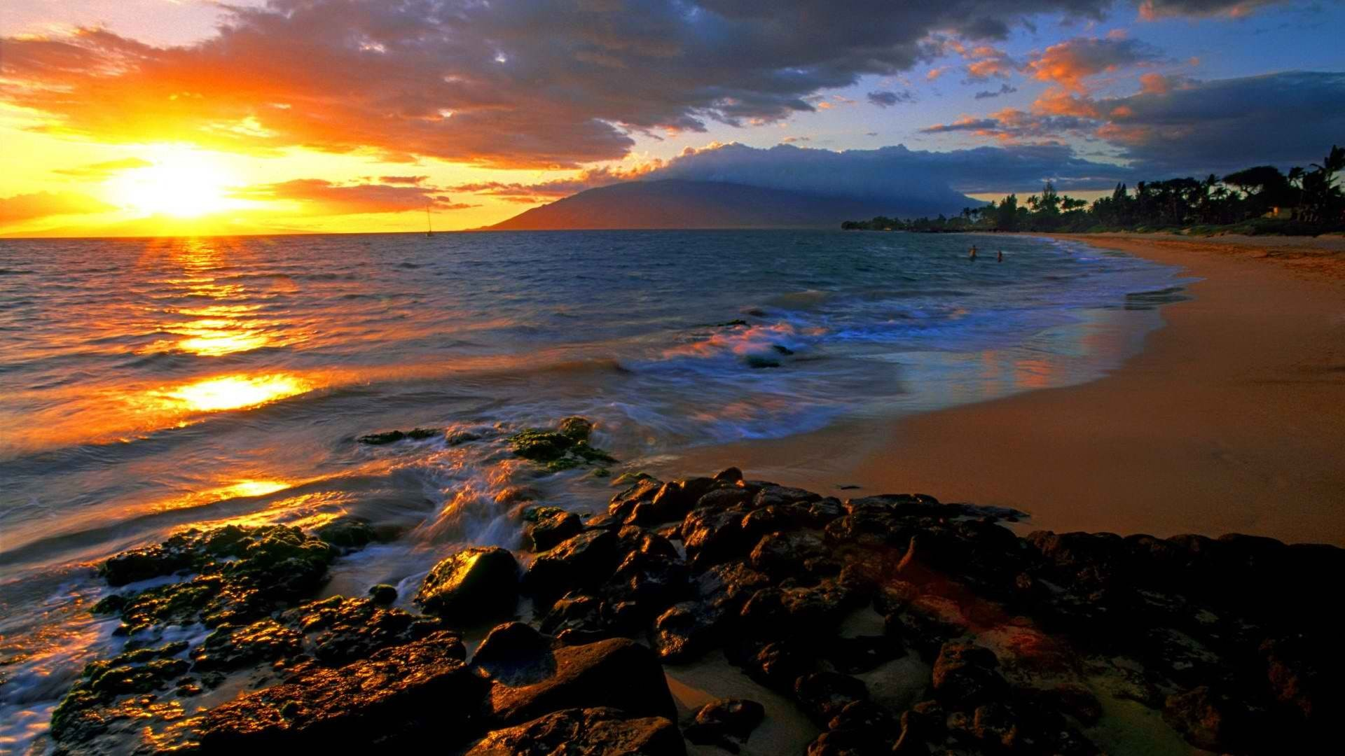 hawaii sunset wallpaper (54+ pictures)