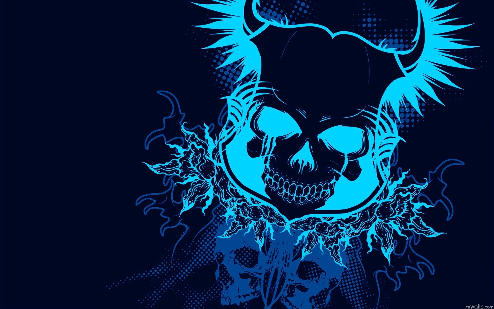 Blue Skull Wallpaper 54 Pictures