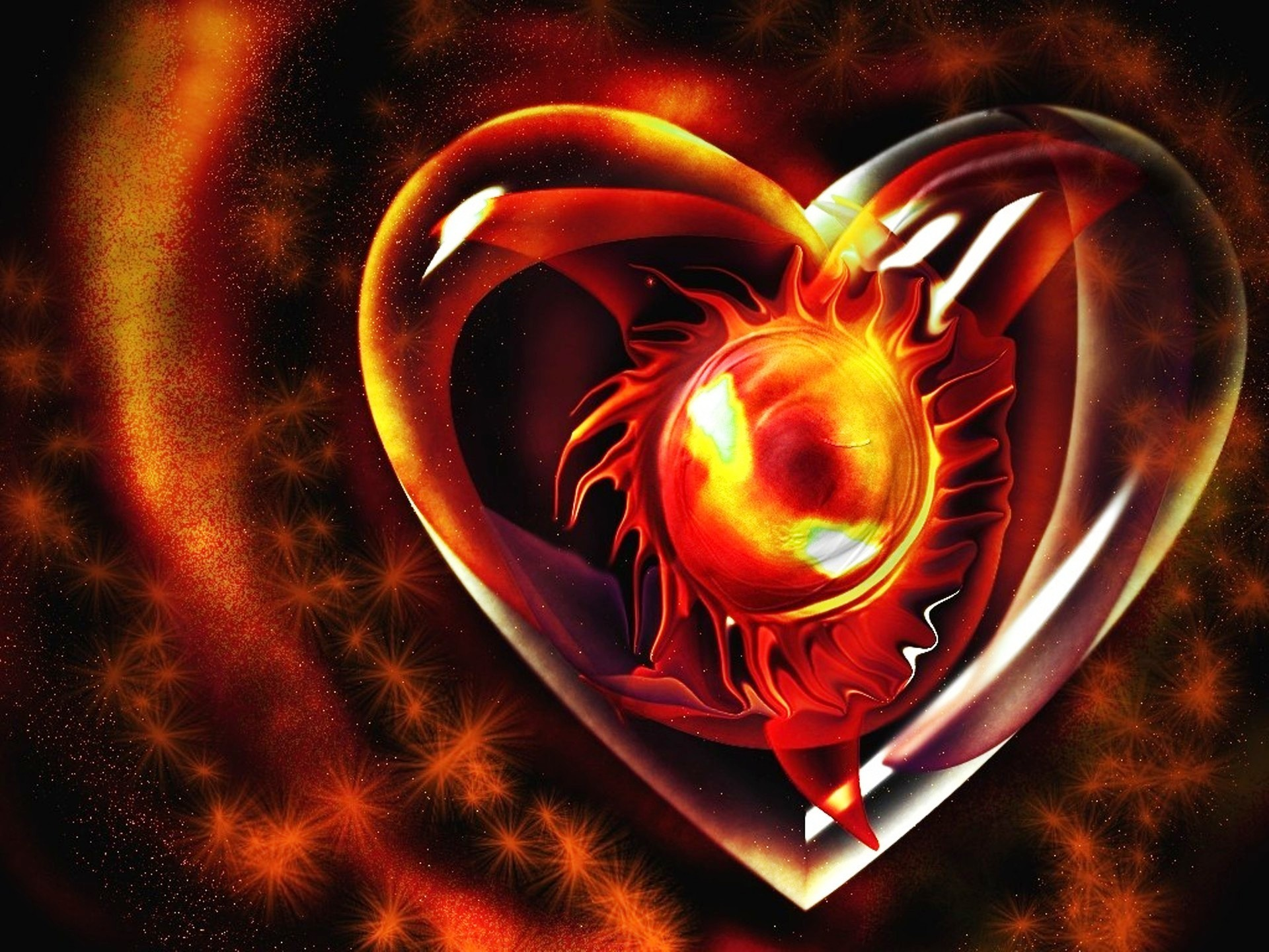 3d Heart Vector Beautiful Love, Abstract, 3d, Love PNG and Vector ... | 1440x1920
