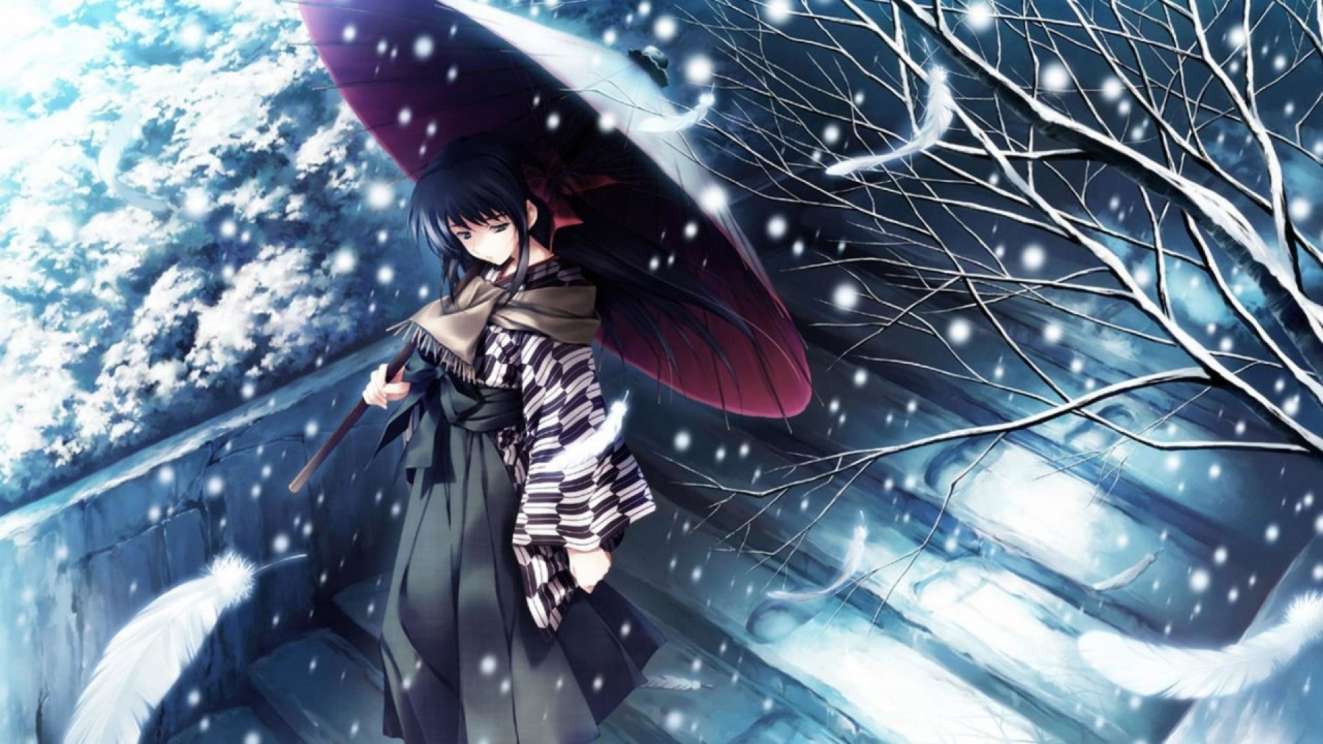 Winter Anime Wallpaper (80+ pictures)