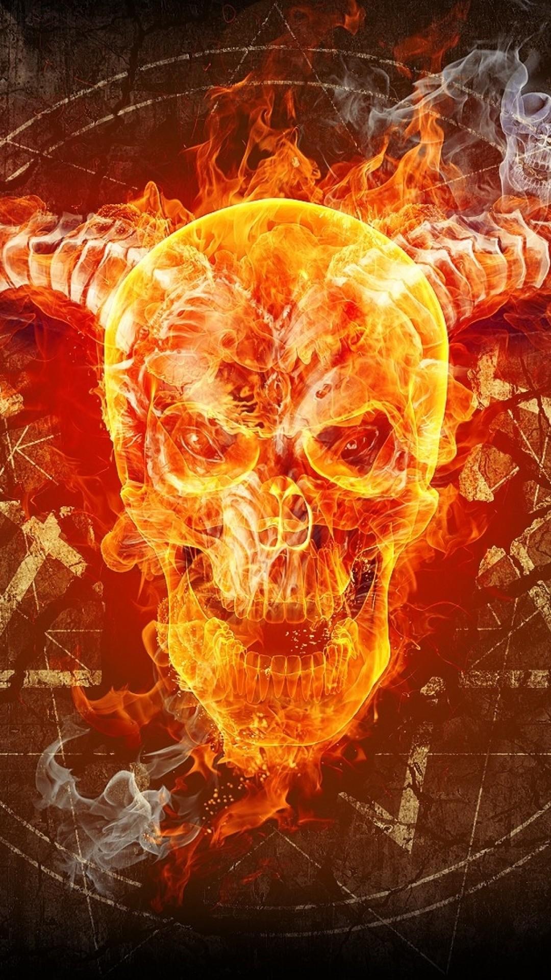 Fire Skulls Wallpaper 58 Pictures