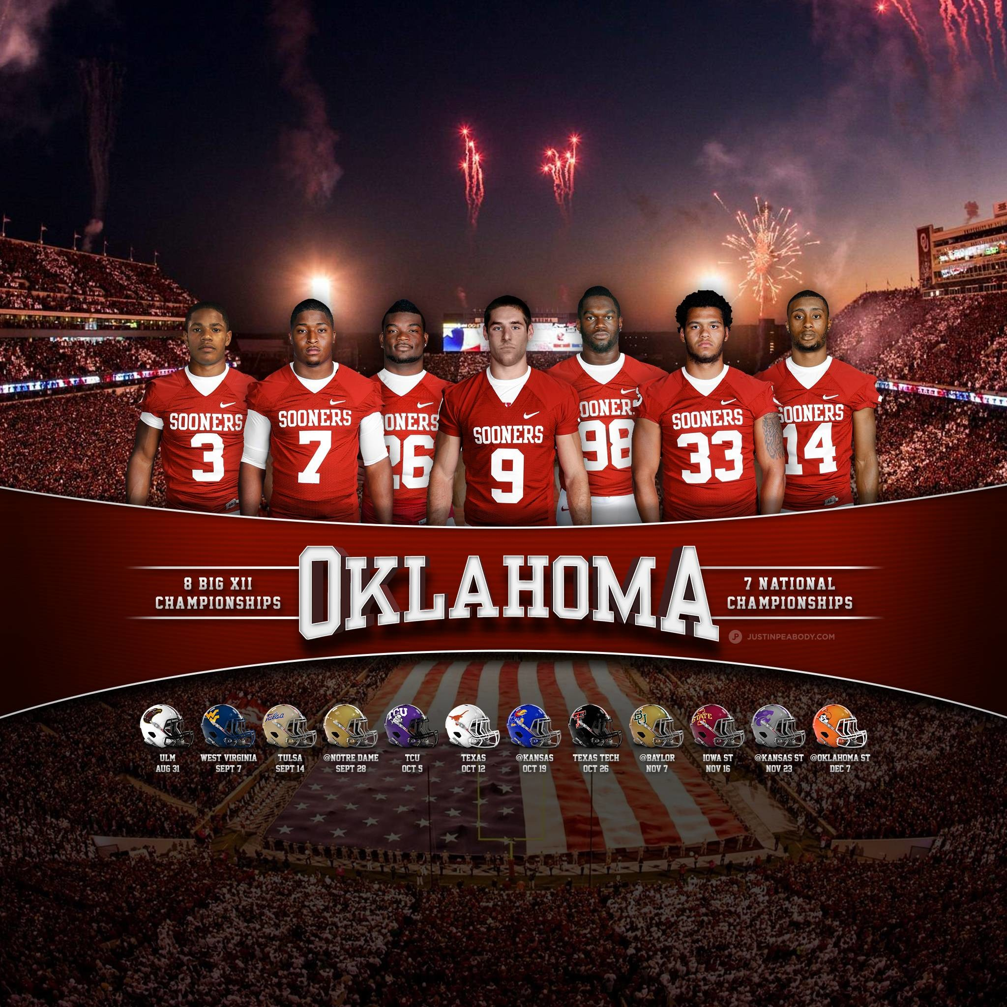 2100x1500 Nice Images Collection: Oklahoma Sooners Desktop Wallpapers