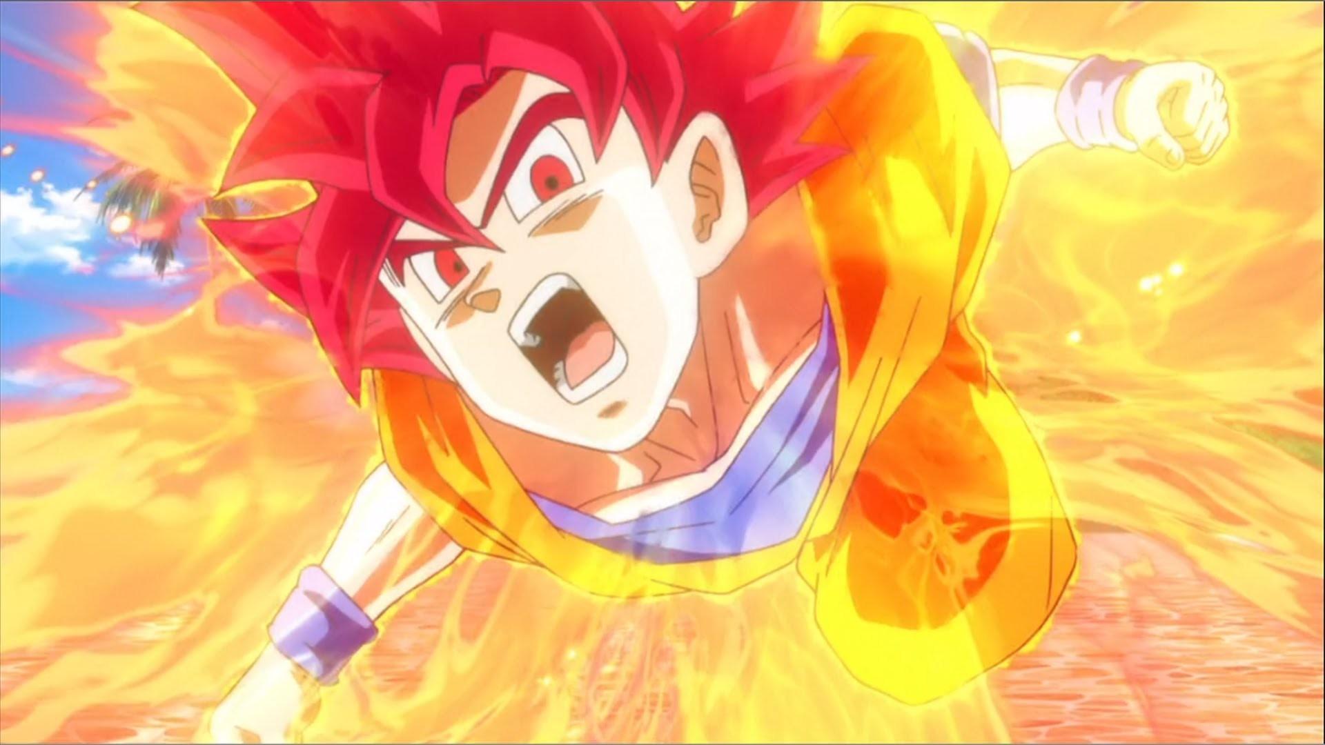 Goku Super Saiyan God Wallpapers 57 Pictures