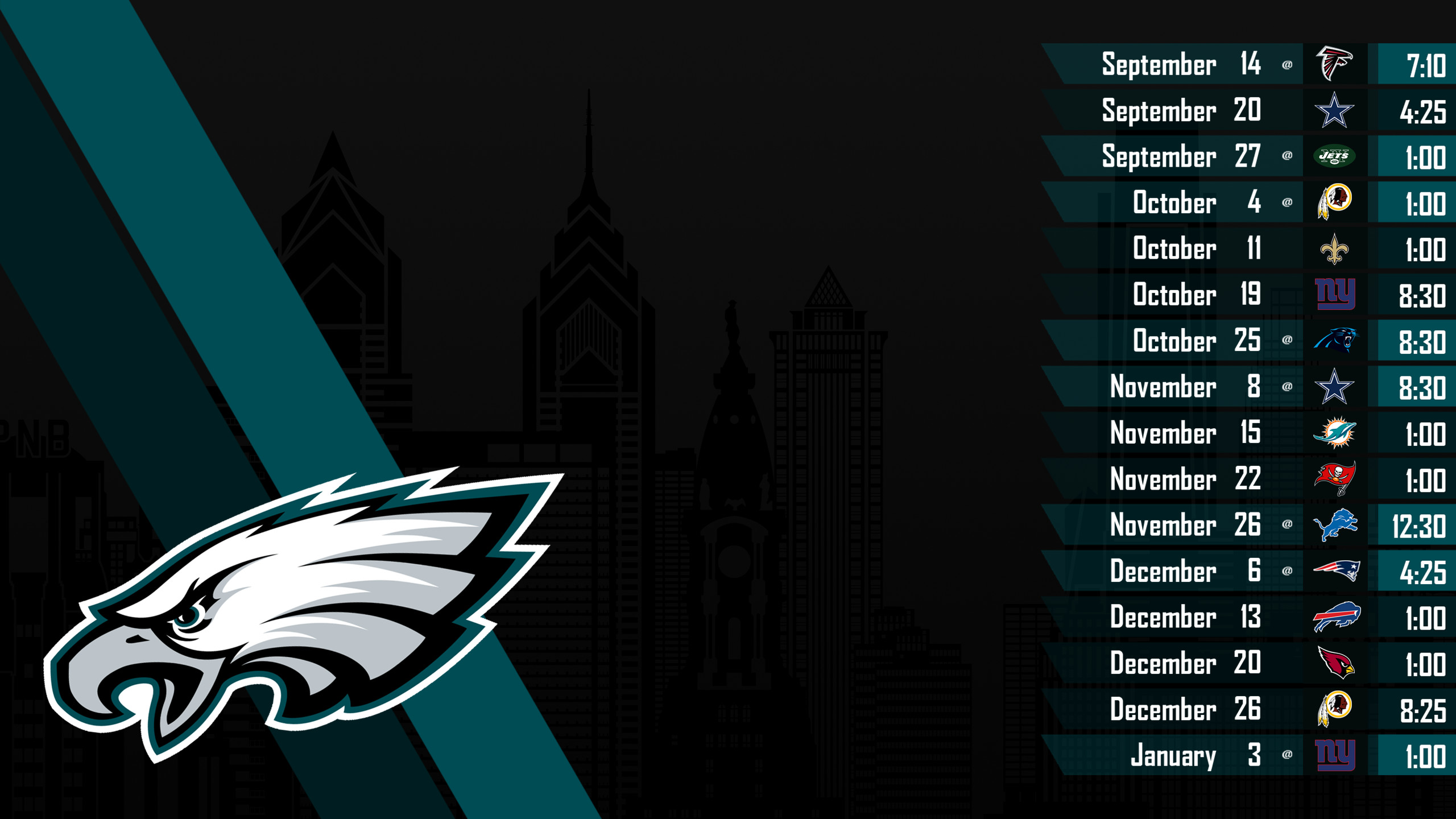 Philadelphia Eagles 2018 Schedule Wallpaper 54 Pictures