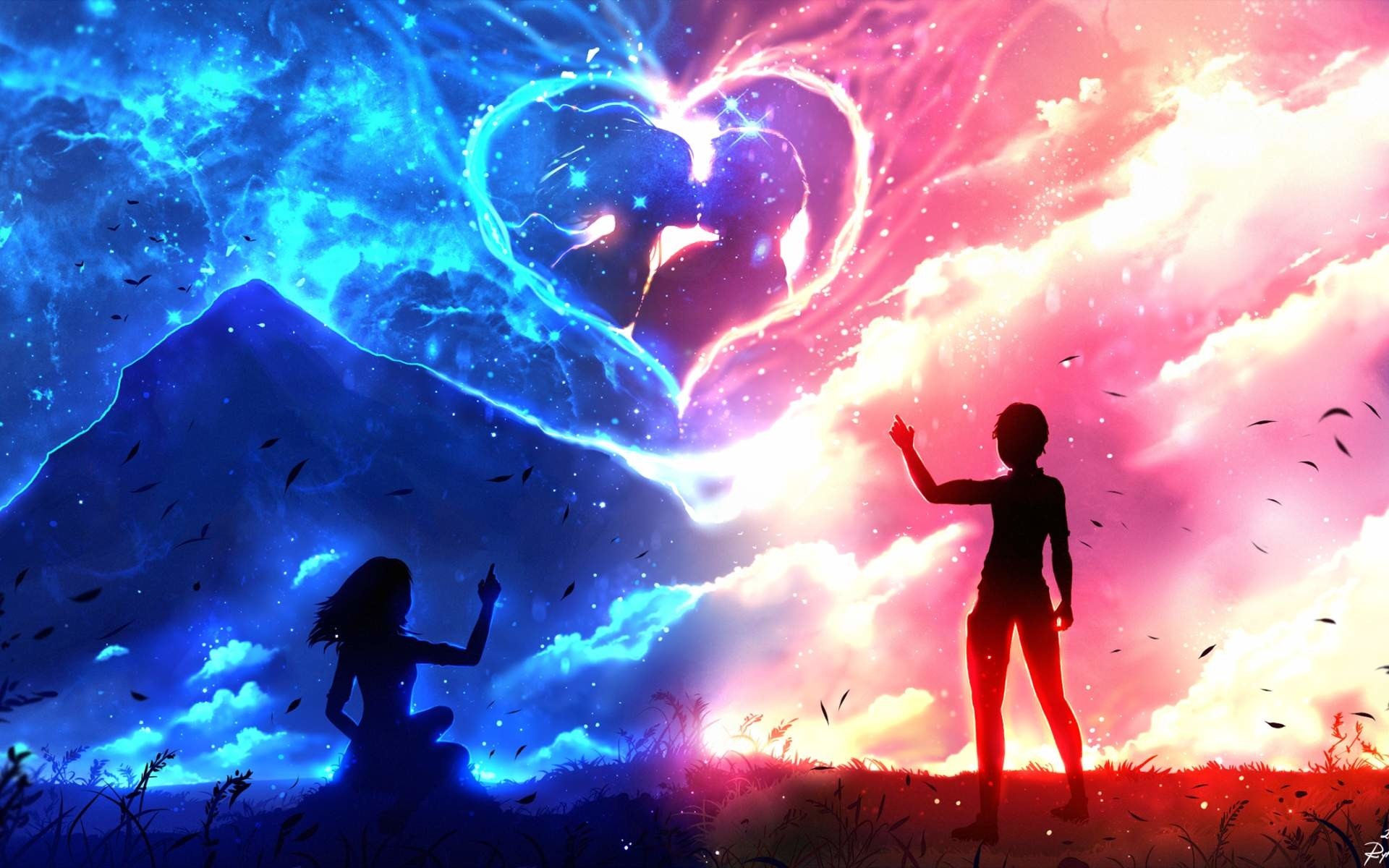 X Cute Anime Couple Wallpapers Wallpaper A