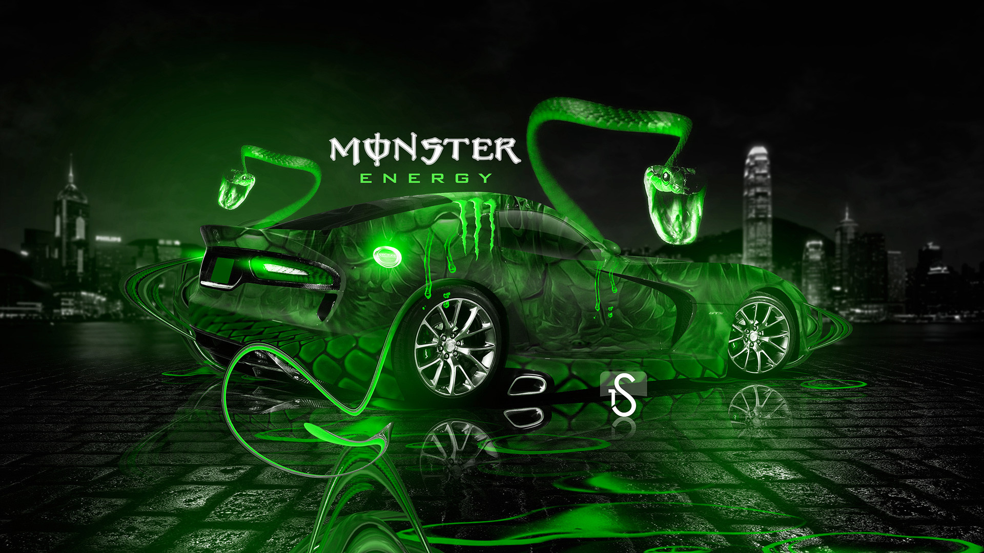 Monster Energy Aston Martin One77 Fantasy Plastic Car ...