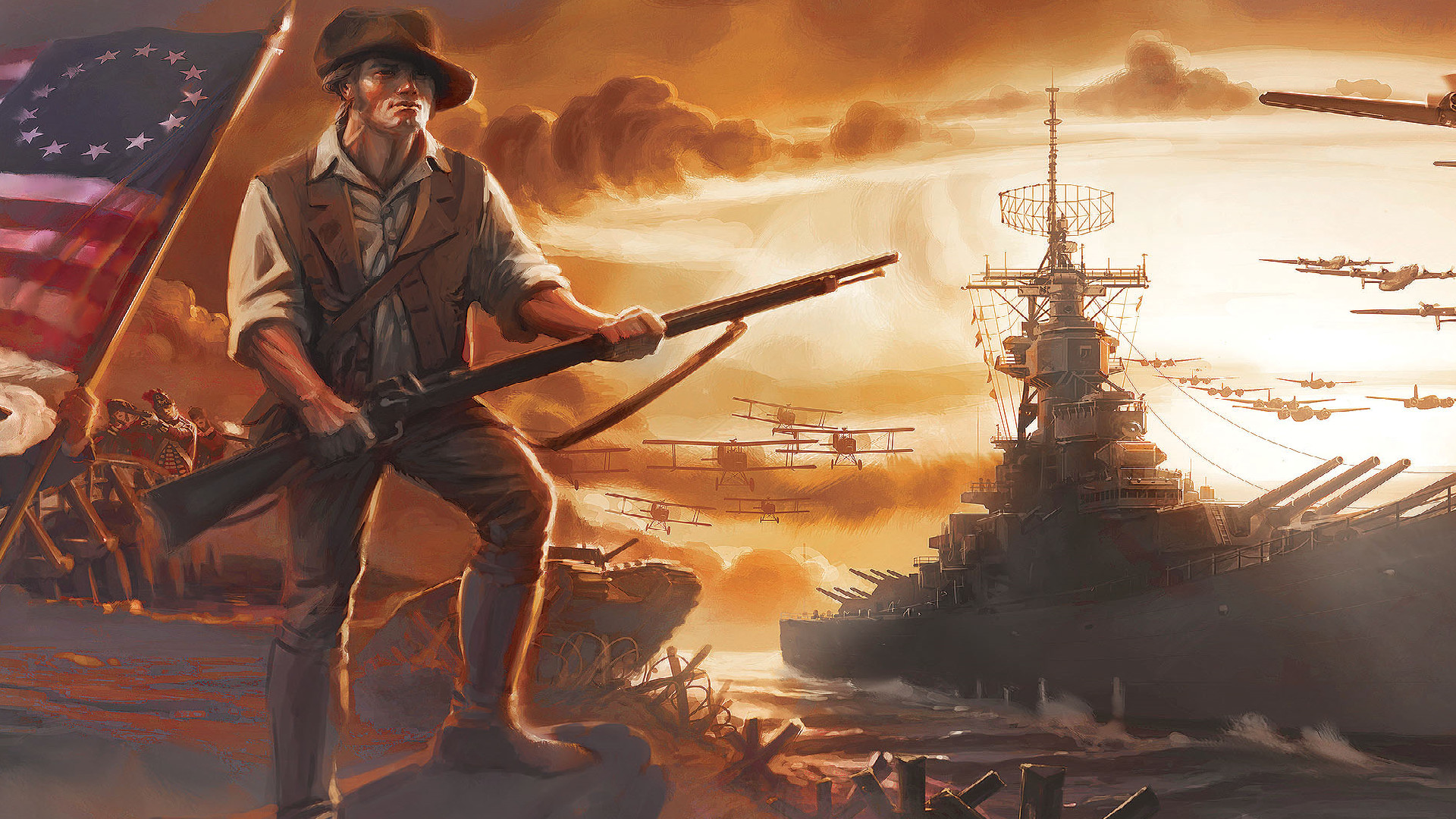Revolutionary war wallpaper 72 pictures for Fallout 4 mural