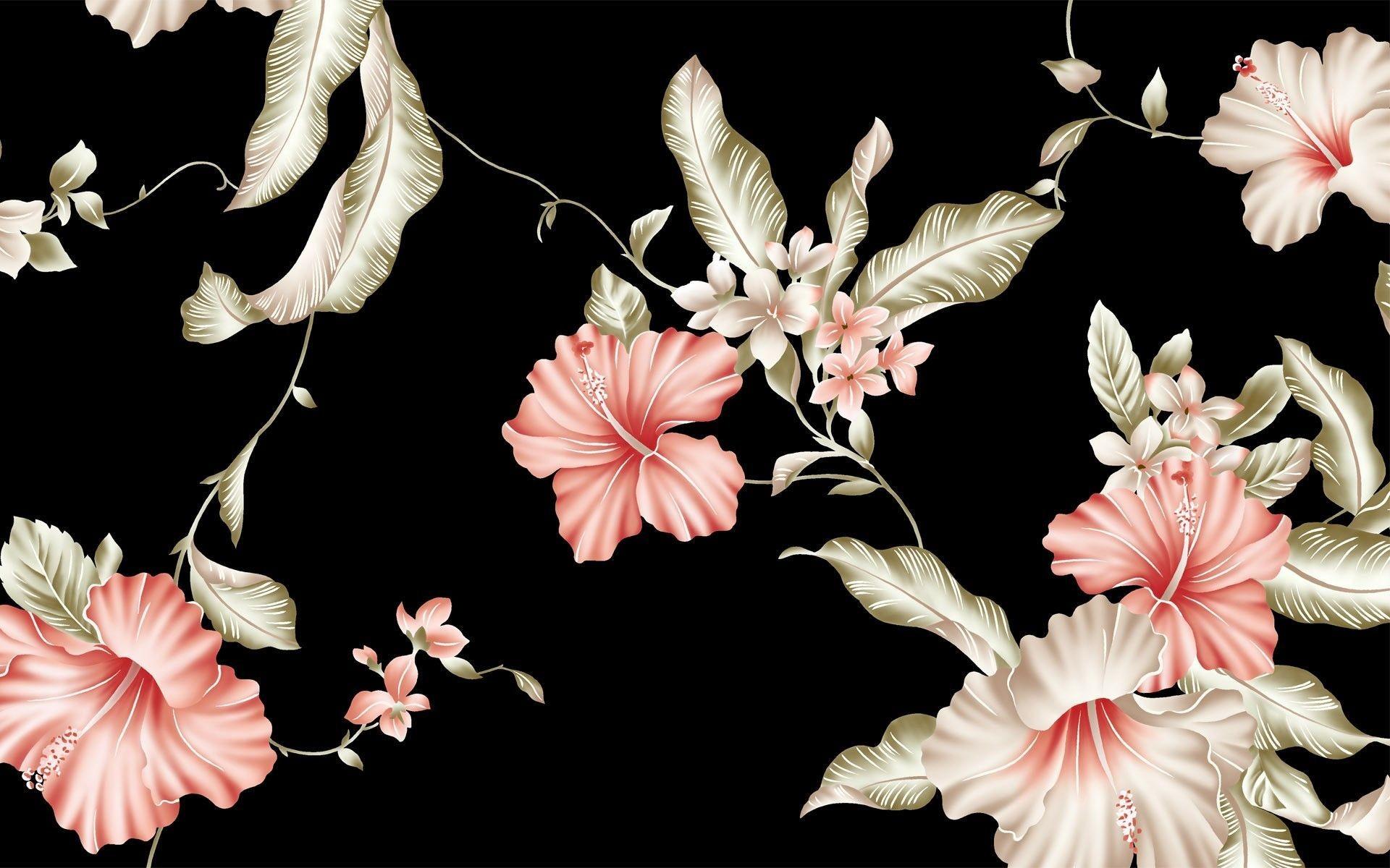 Free Download Vintage Flower Backgrounds HD 1920x1200
